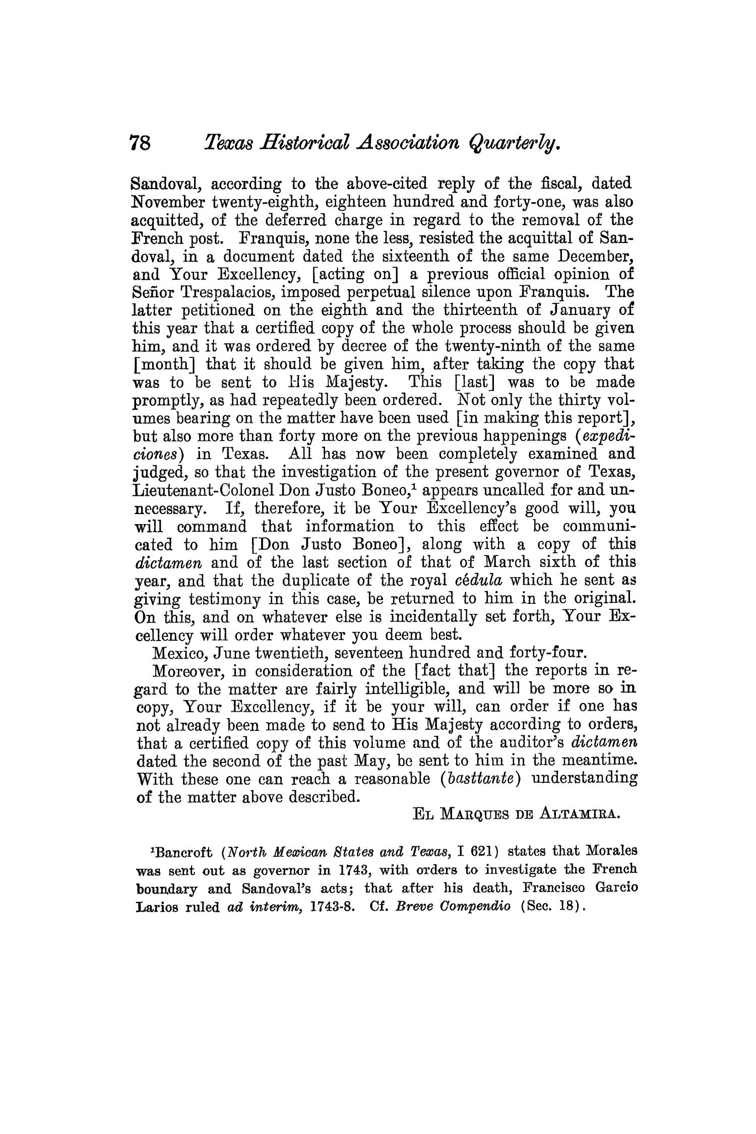 The Quarterly of the Texas State Historical Association, Volume 8, July 1904 - April, 1905                                                                                                      78