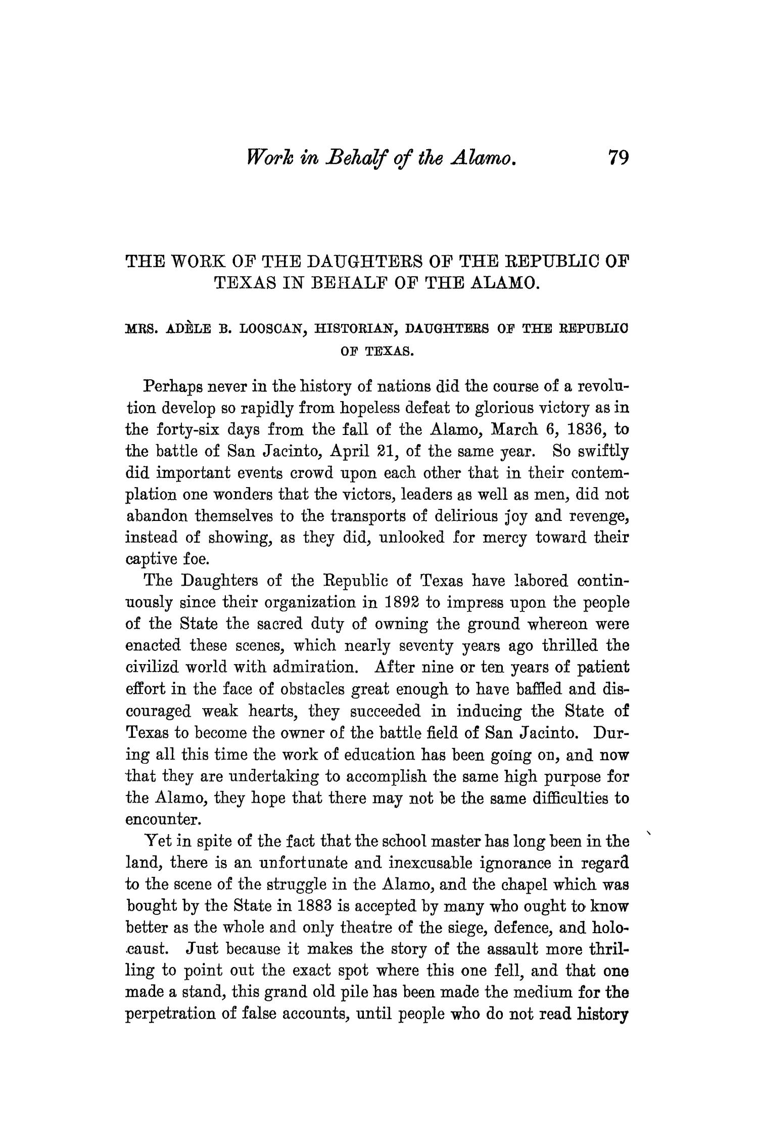 The Quarterly of the Texas State Historical Association, Volume 8, July 1904 - April, 1905                                                                                                      79