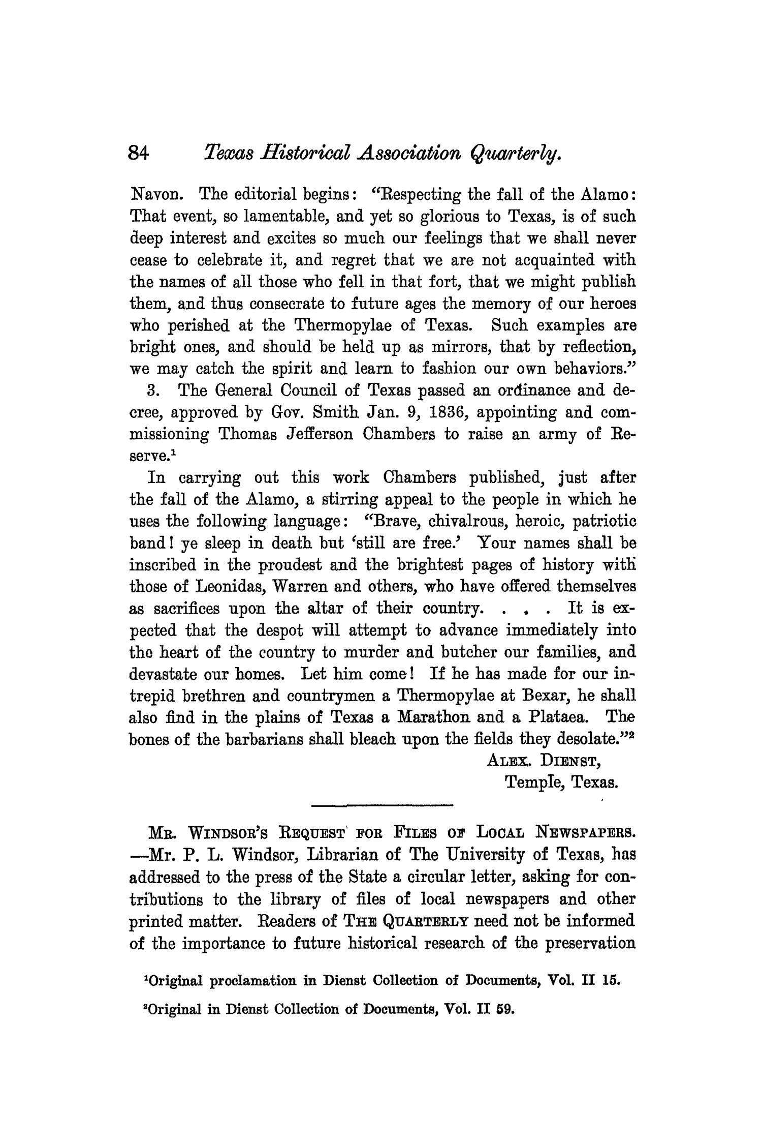 The Quarterly of the Texas State Historical Association, Volume 8, July 1904 - April, 1905                                                                                                      84