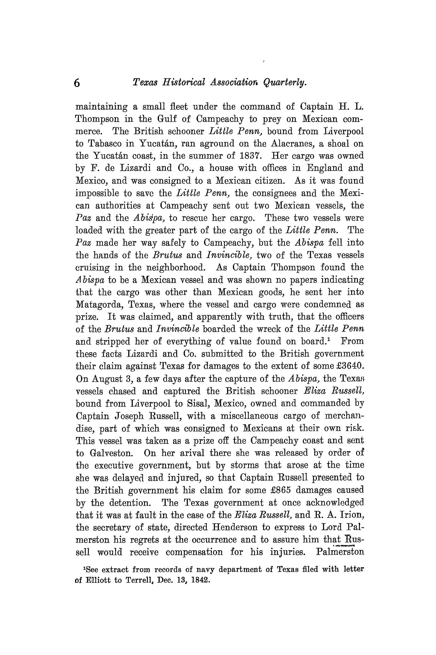 The Quarterly of the Texas State Historical Association, Volume 9, July 1905 - April, 1906                                                                                                      6
