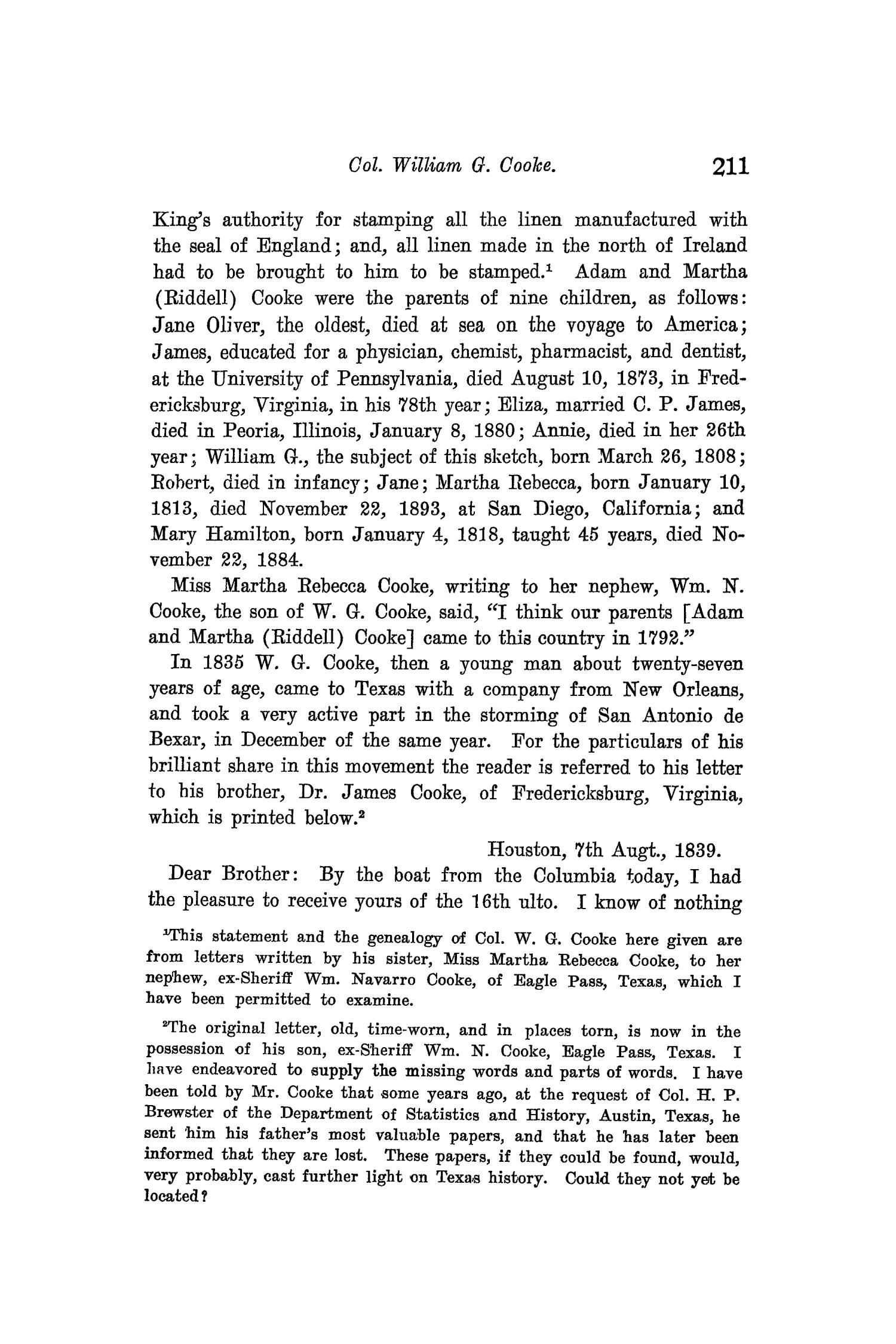 The Quarterly of the Texas State Historical Association, Volume 9, July 1905 - April, 1906                                                                                                      211