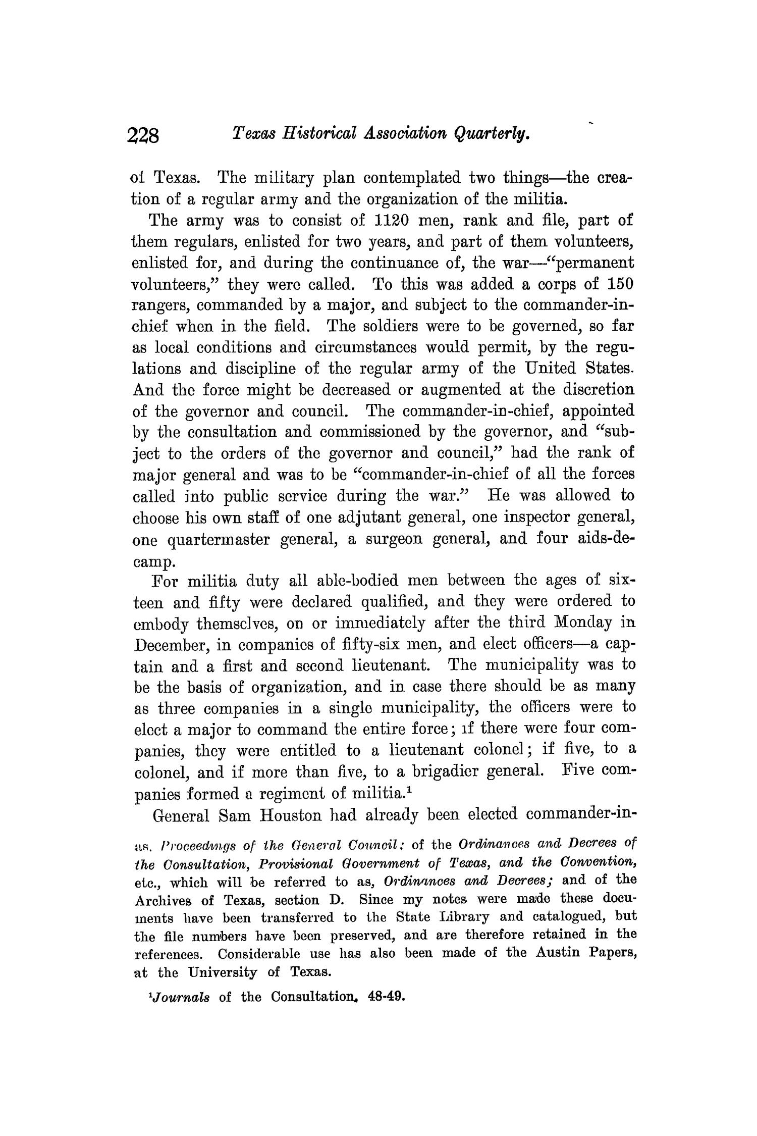 The Quarterly of the Texas State Historical Association, Volume 9, July 1905 - April, 1906                                                                                                      228