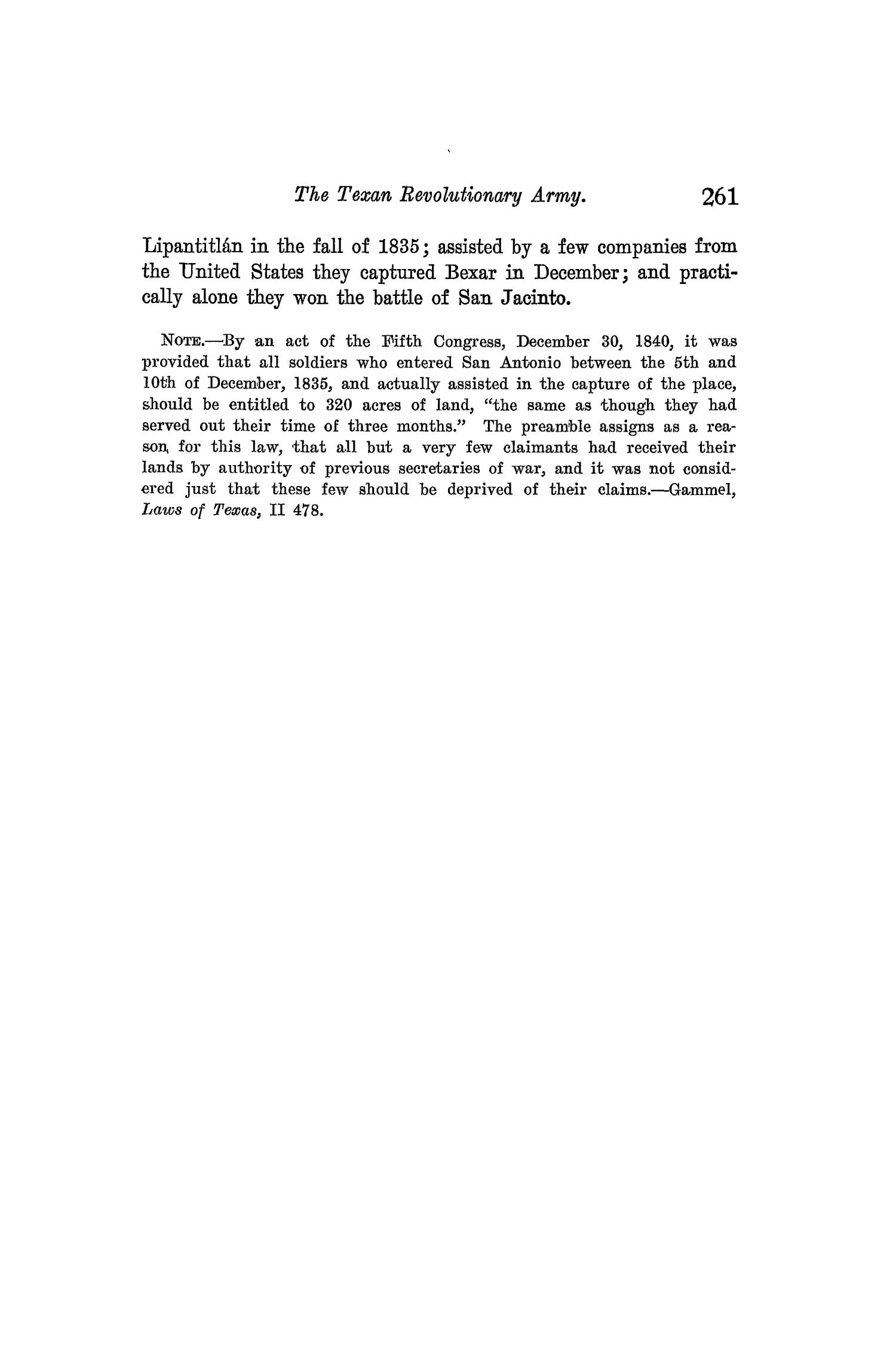 The Quarterly of the Texas State Historical Association, Volume 9, July 1905 - April, 1906                                                                                                      261