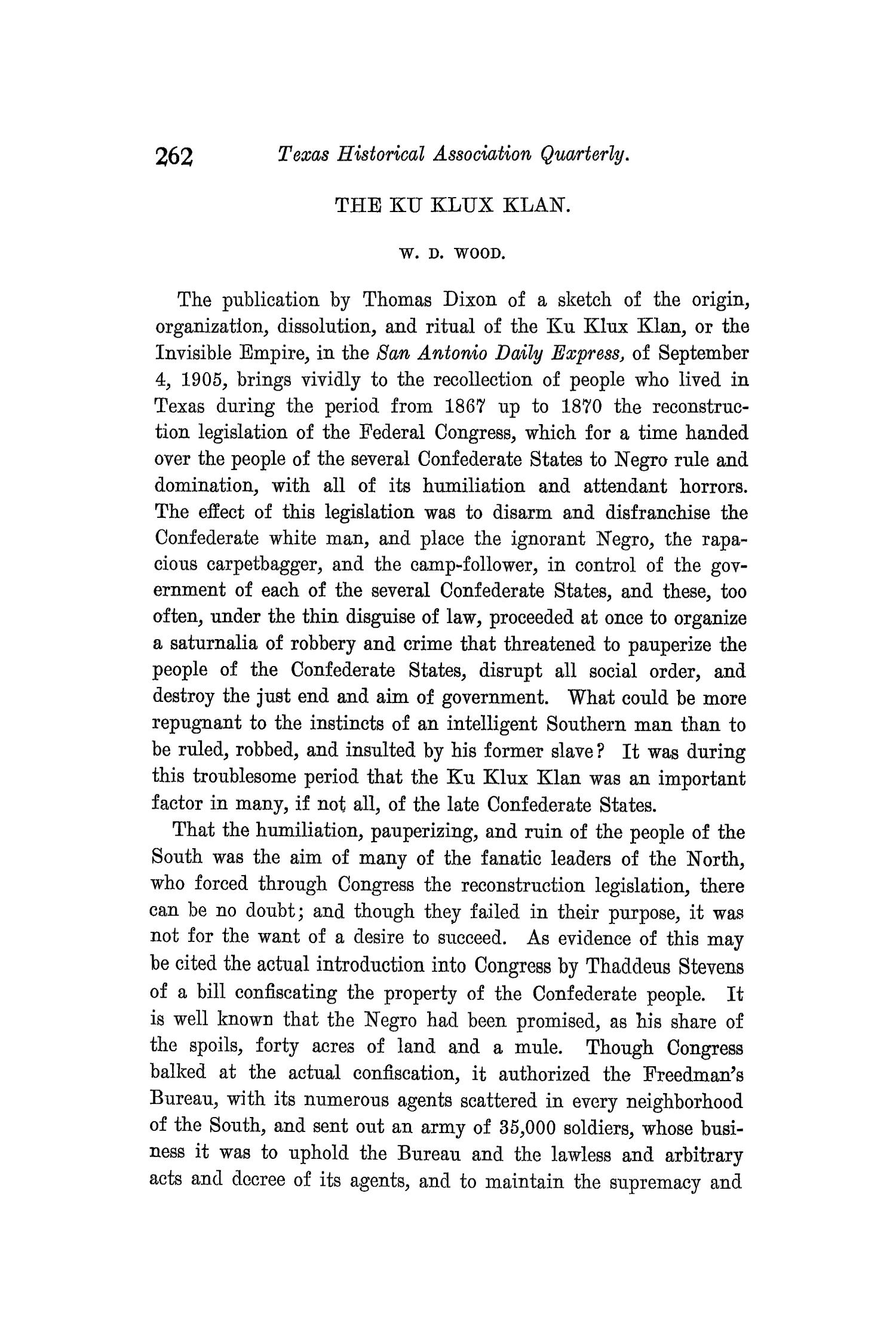 The Quarterly of the Texas State Historical Association, Volume 9, July 1905 - April, 1906                                                                                                      262
