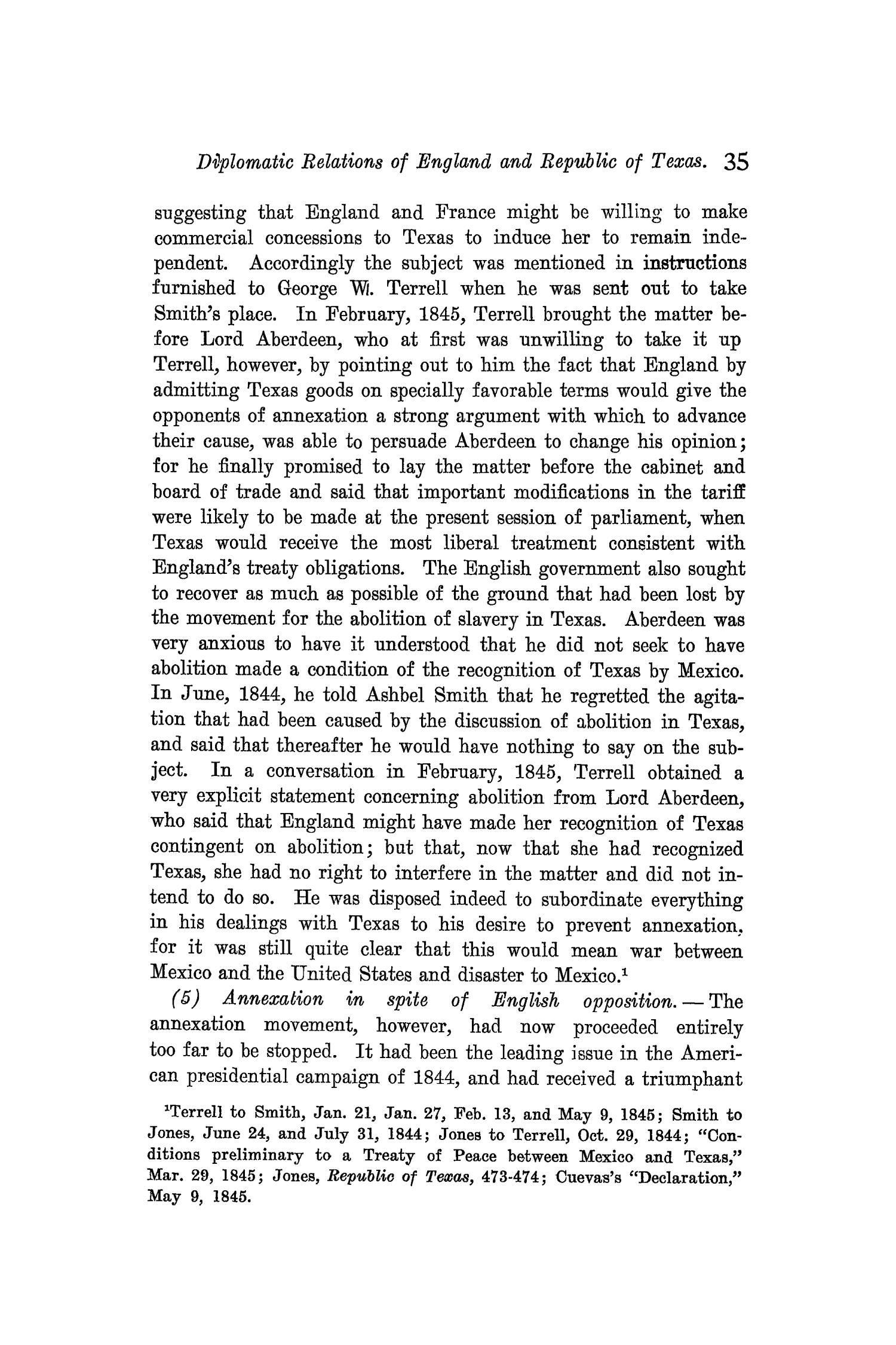The Quarterly of the Texas State Historical Association, Volume 9, July 1905 - April, 1906                                                                                                      35
