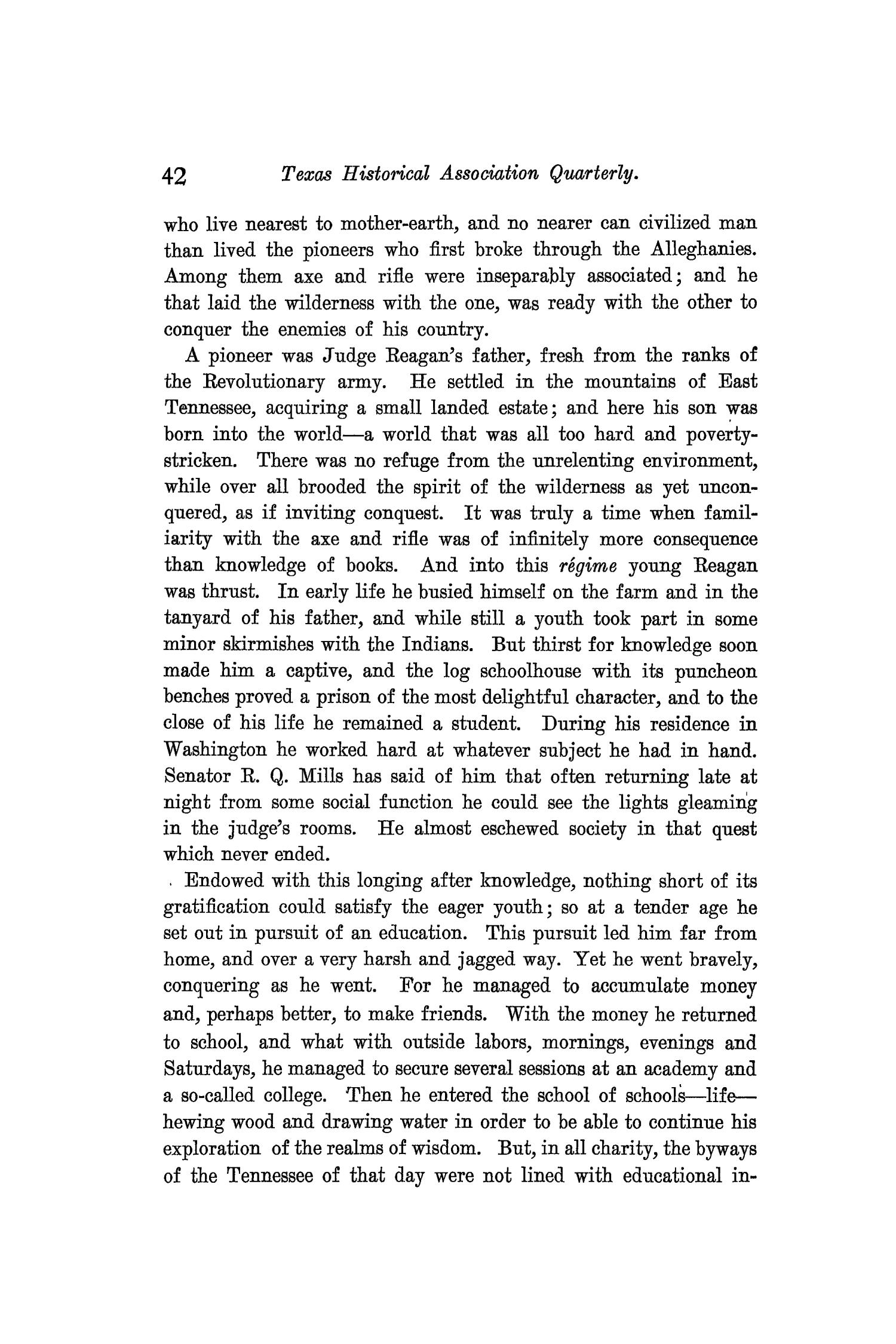 The Quarterly of the Texas State Historical Association, Volume 9, July 1905 - April, 1906                                                                                                      42