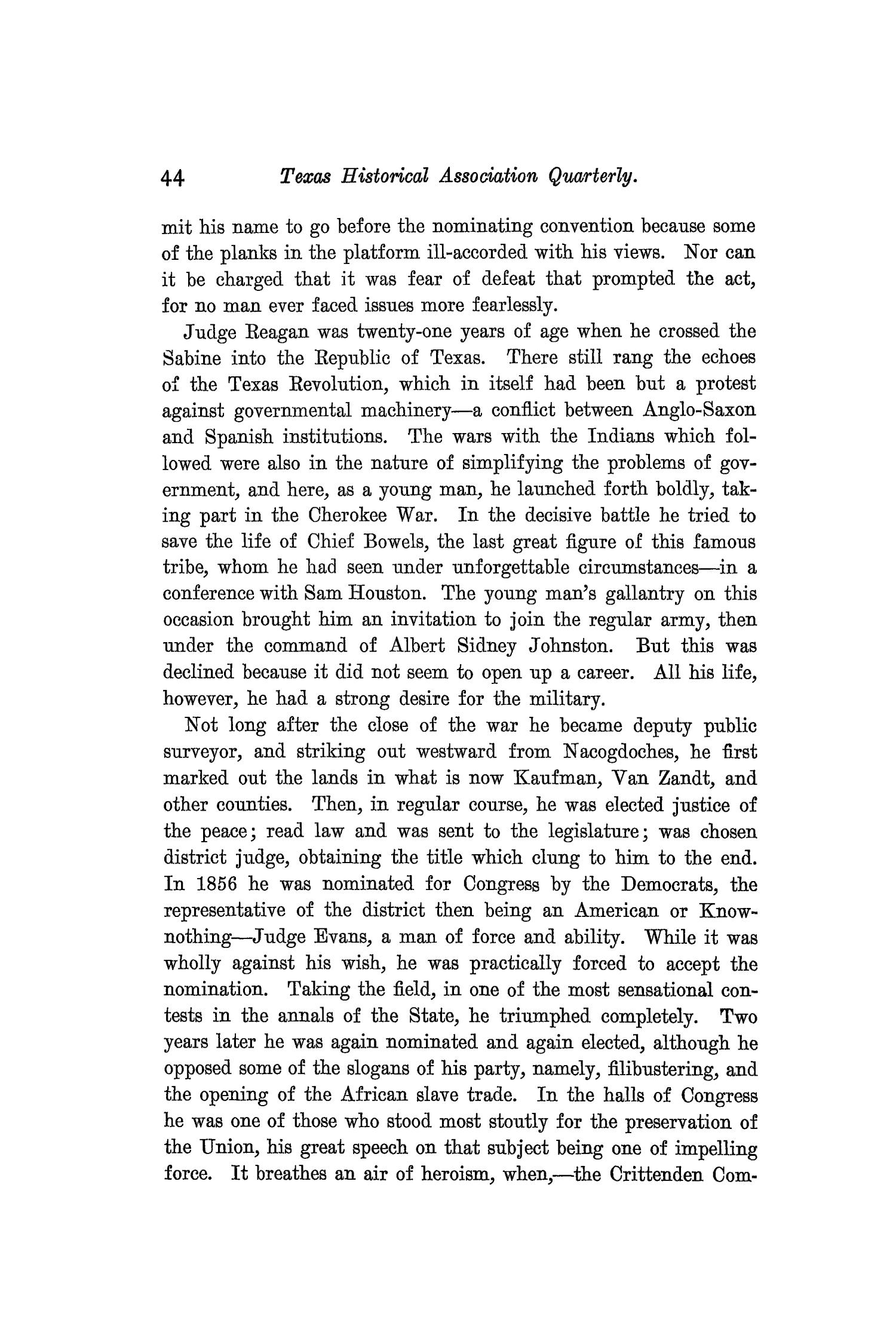 The Quarterly of the Texas State Historical Association, Volume 9, July 1905 - April, 1906                                                                                                      44