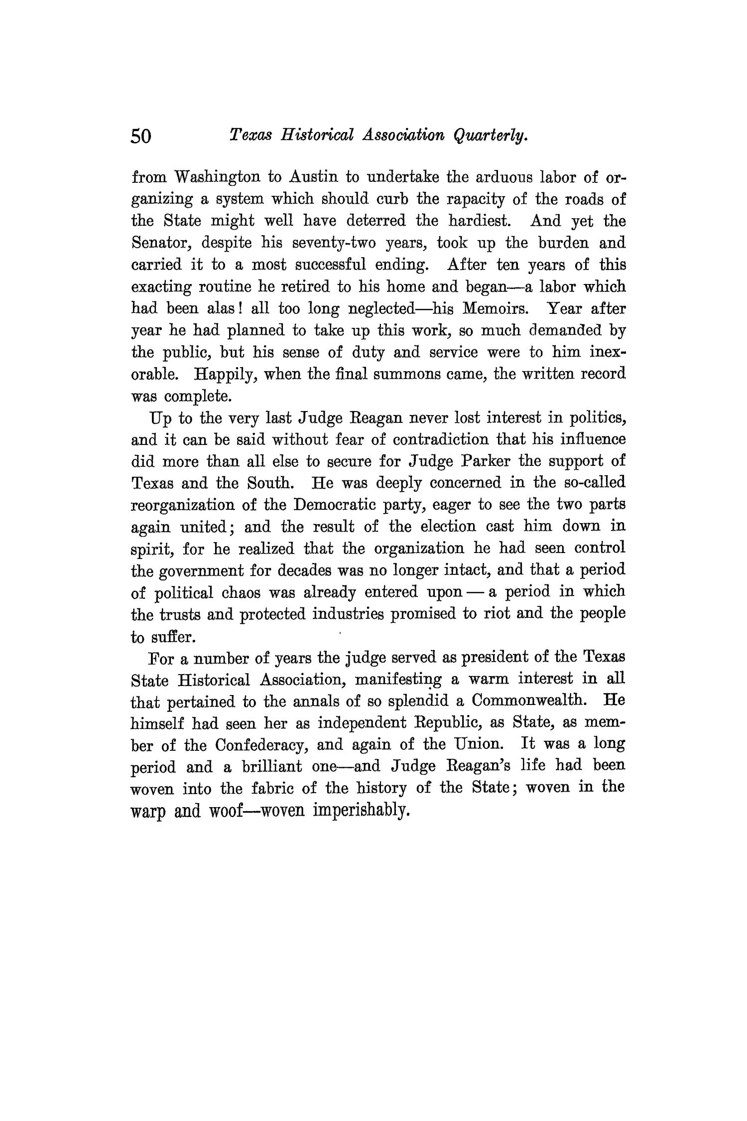 The Quarterly of the Texas State Historical Association, Volume 9, July 1905 - April, 1906                                                                                                      50