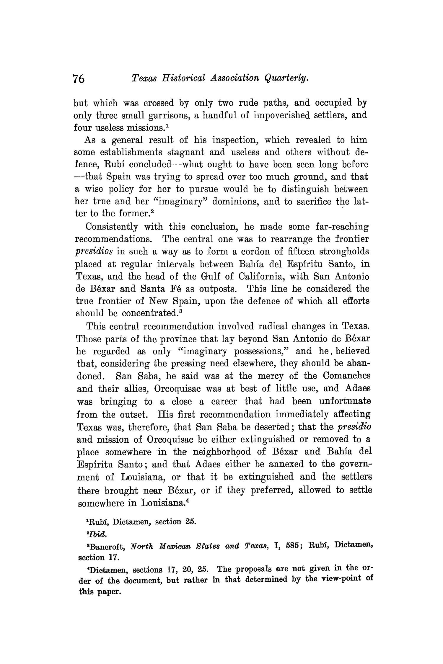 The Quarterly of the Texas State Historical Association, Volume 9, July 1905 - April, 1906                                                                                                      76