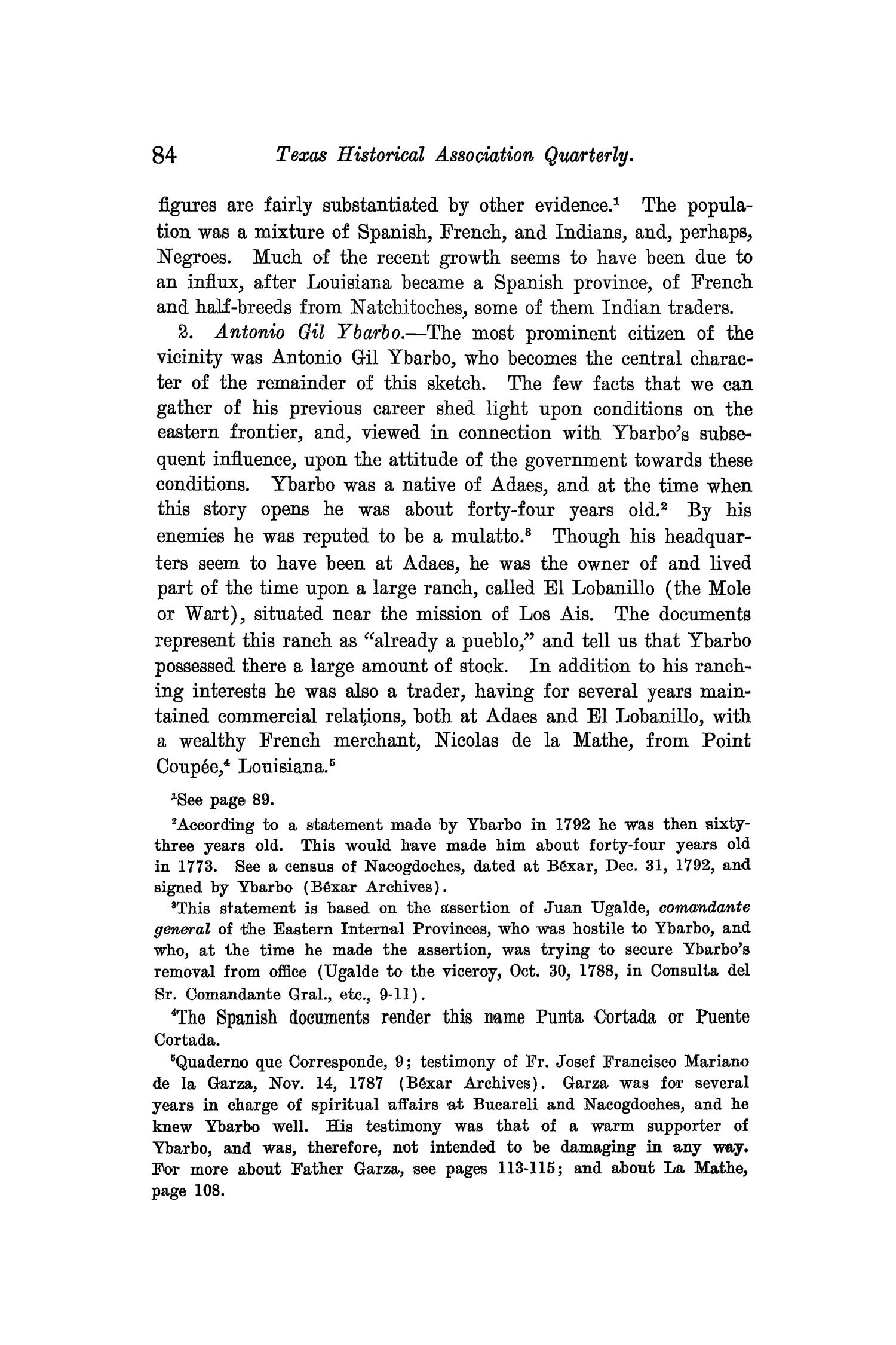 The Quarterly of the Texas State Historical Association, Volume 9, July 1905 - April, 1906                                                                                                      84