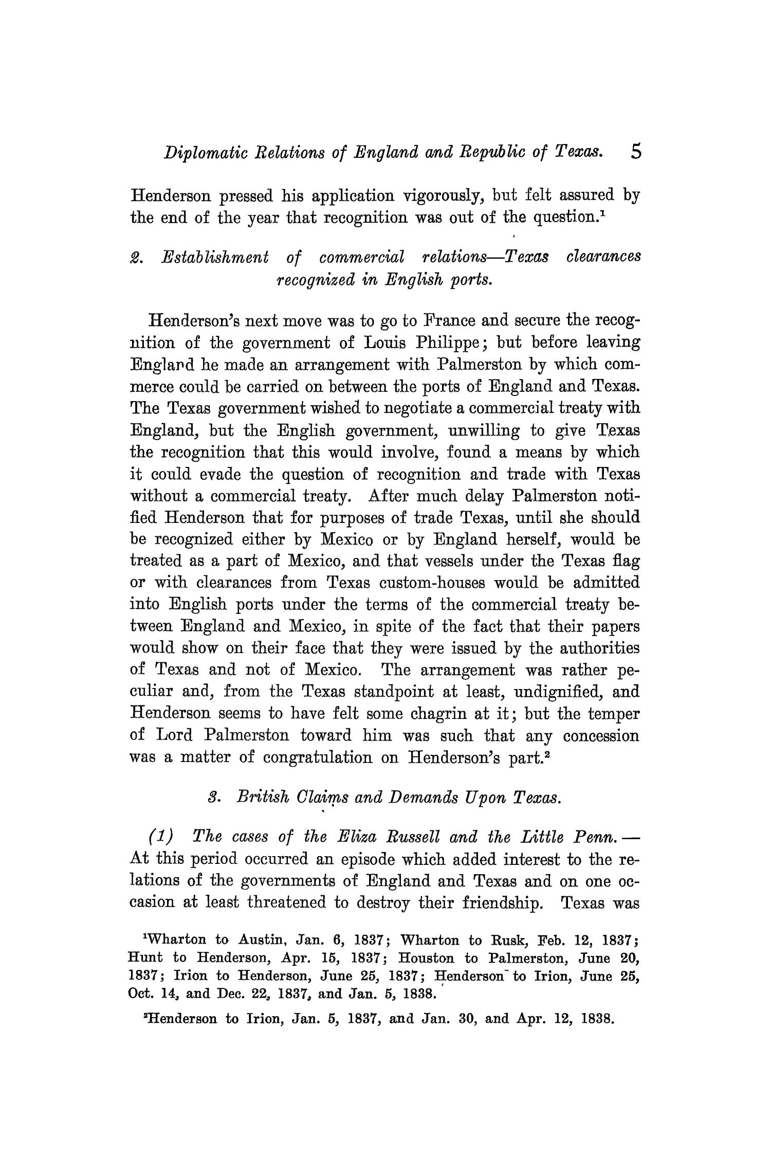 The Quarterly of the Texas State Historical Association, Volume 9, July 1905 - April, 1906                                                                                                      5