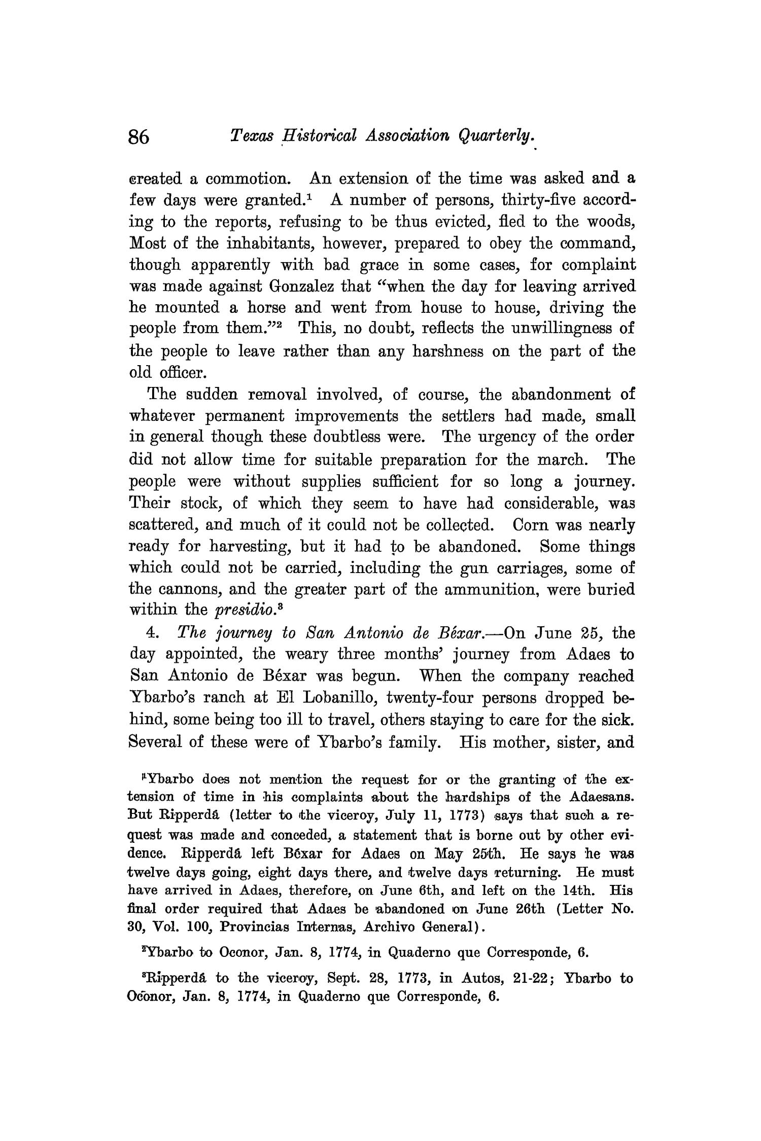 The Quarterly of the Texas State Historical Association, Volume 9, July 1905 - April, 1906                                                                                                      86