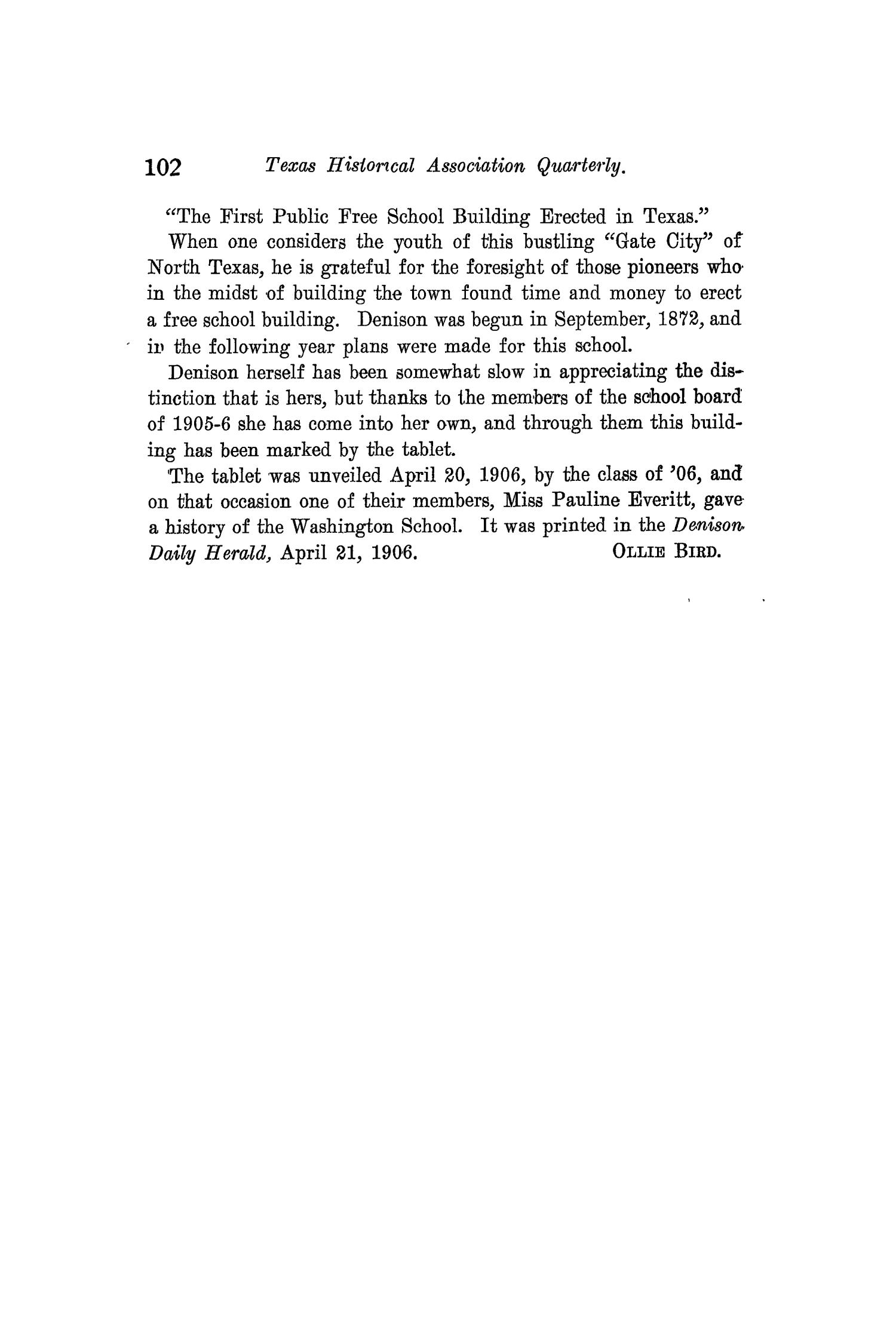 The Quarterly of the Texas State Historical Association, Volume 10, July 1906 - April, 1907                                                                                                      102