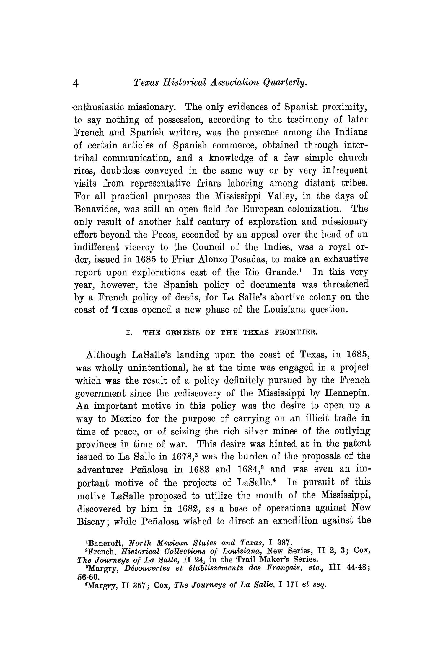 The Quarterly of the Texas State Historical Association, Volume 10, July 1906 - April, 1907                                                                                                      4