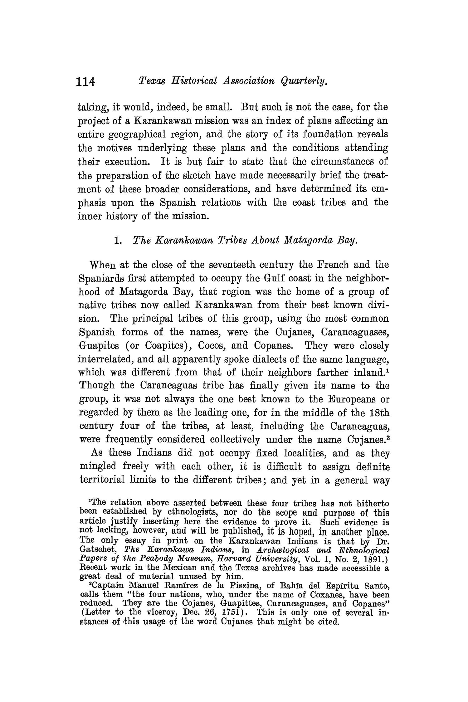 The Quarterly of the Texas State Historical Association, Volume 10, July 1906 - April, 1907                                                                                                      114