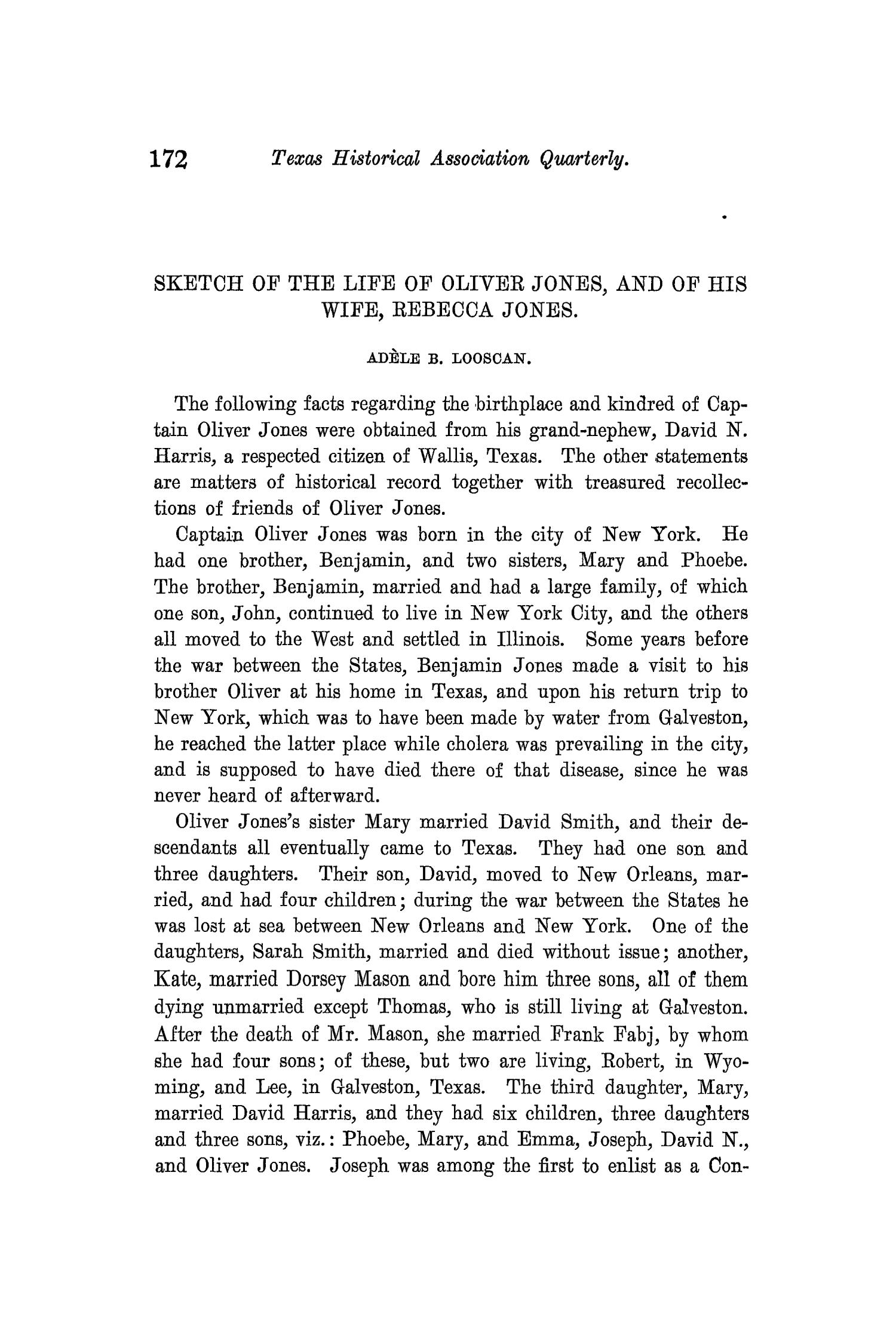 The Quarterly of the Texas State Historical Association, Volume 10, July 1906 - April, 1907                                                                                                      172