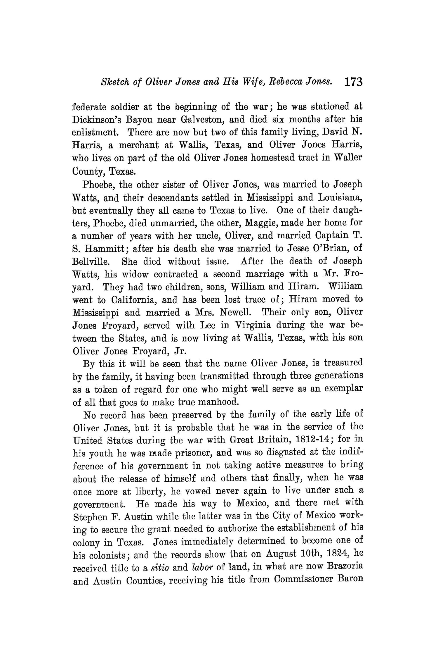 The Quarterly of the Texas State Historical Association, Volume 10, July 1906 - April, 1907                                                                                                      173