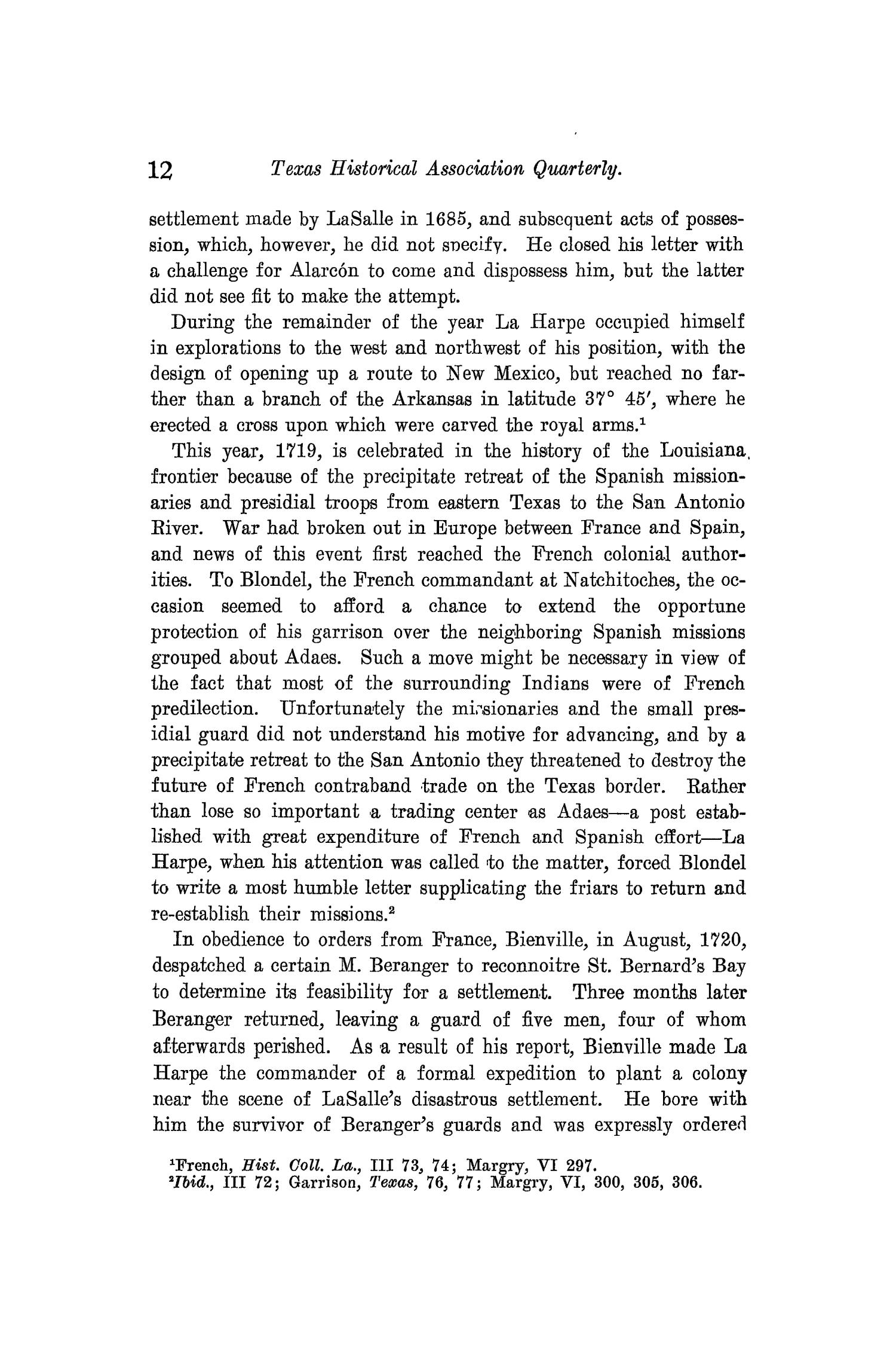 The Quarterly of the Texas State Historical Association, Volume 10, July 1906 - April, 1907                                                                                                      12