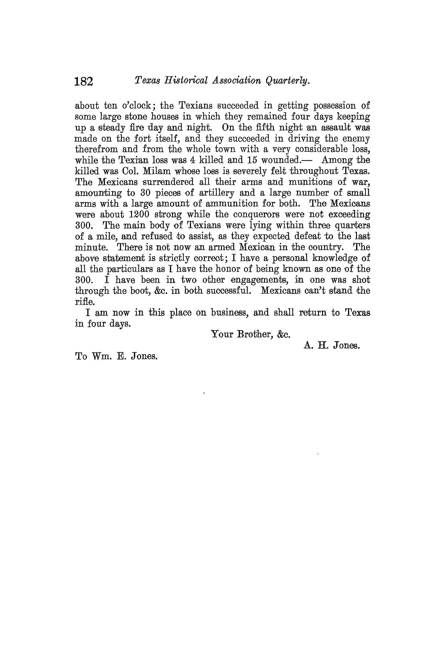 The Quarterly of the Texas State Historical Association, Volume 10, July 1906 - April, 1907                                                                                                      182