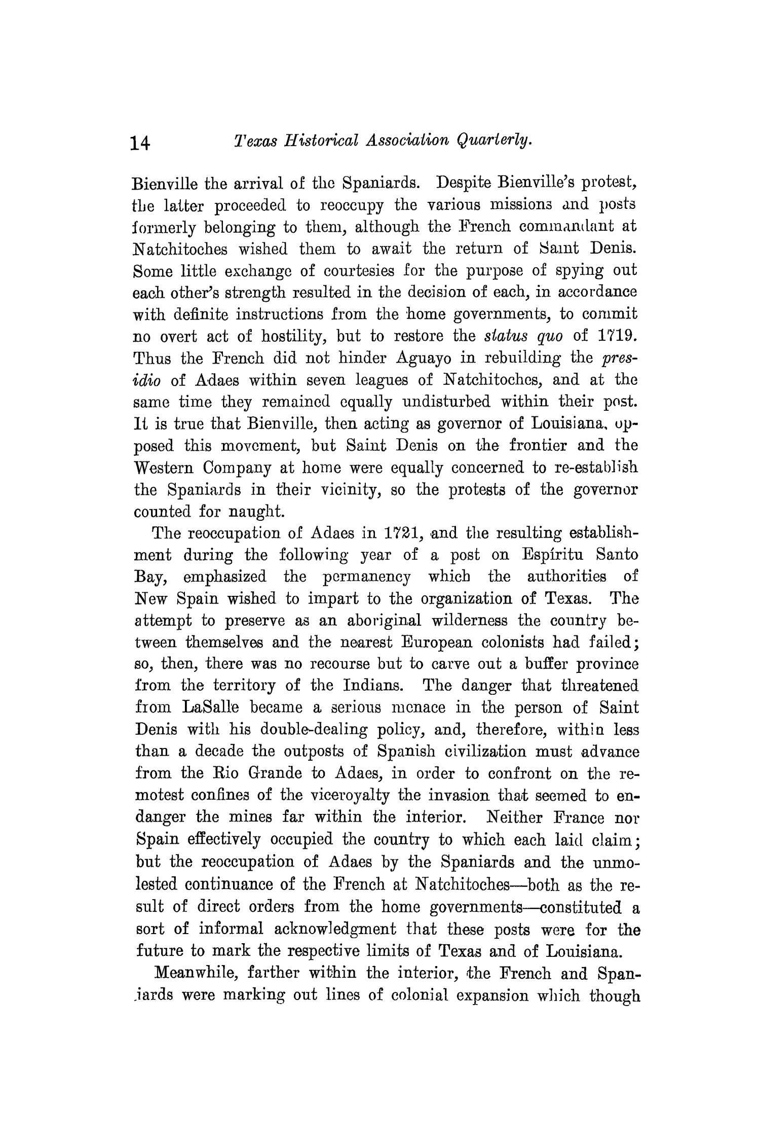 The Quarterly of the Texas State Historical Association, Volume 10, July 1906 - April, 1907                                                                                                      14