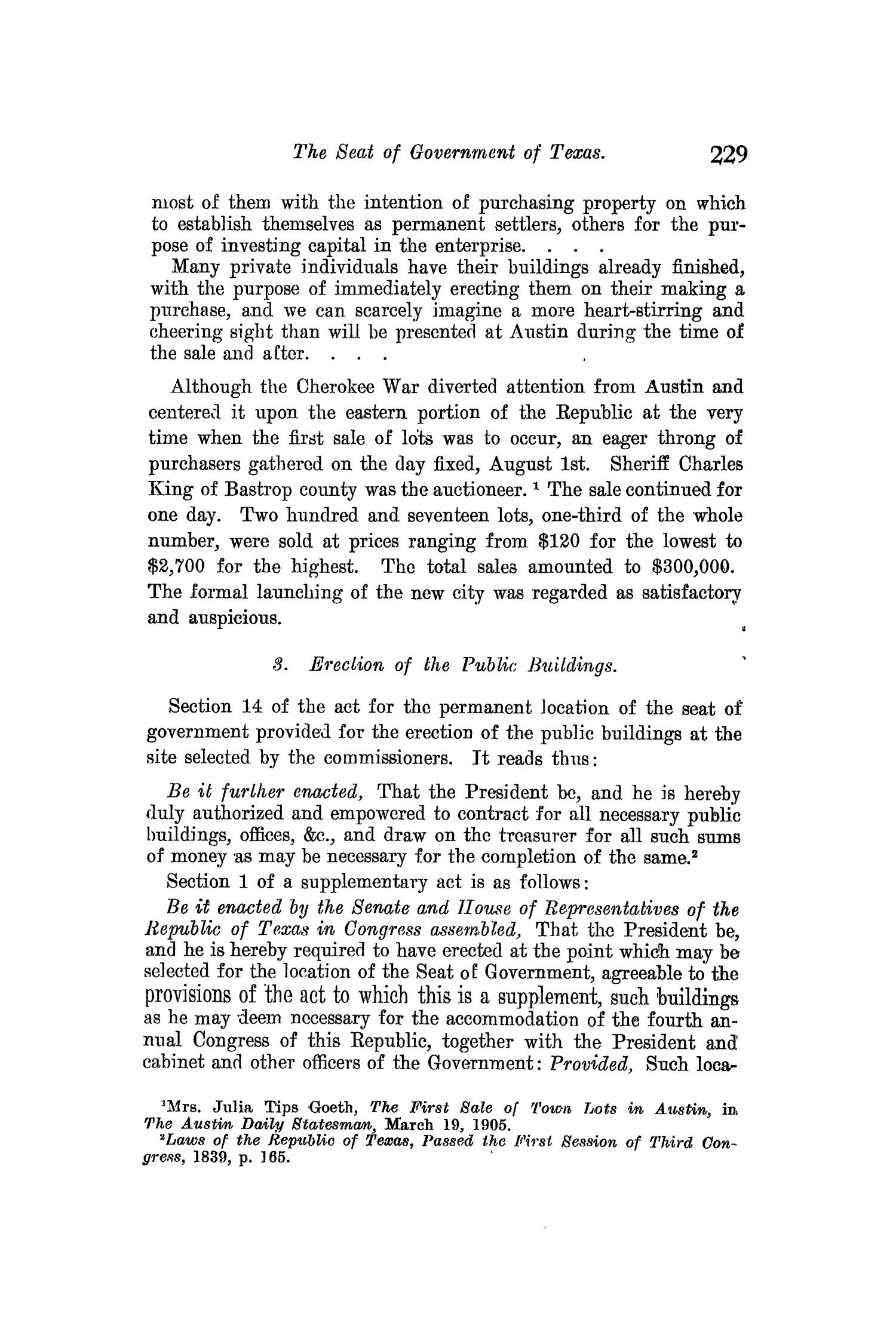 The Quarterly of the Texas State Historical Association, Volume 10, July 1906 - April, 1907                                                                                                      229