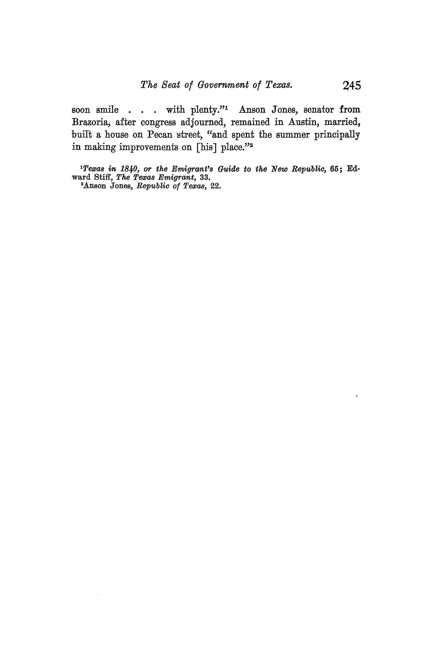 The Quarterly of the Texas State Historical Association, Volume 10, July 1906 - April, 1907                                                                                                      245