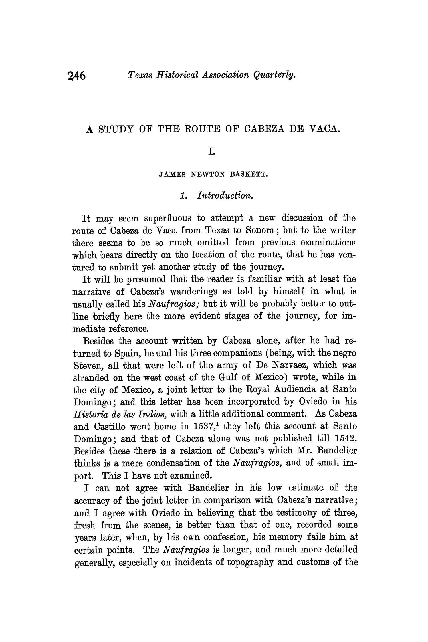 The Quarterly of the Texas State Historical Association, Volume 10, July 1906 - April, 1907                                                                                                      246