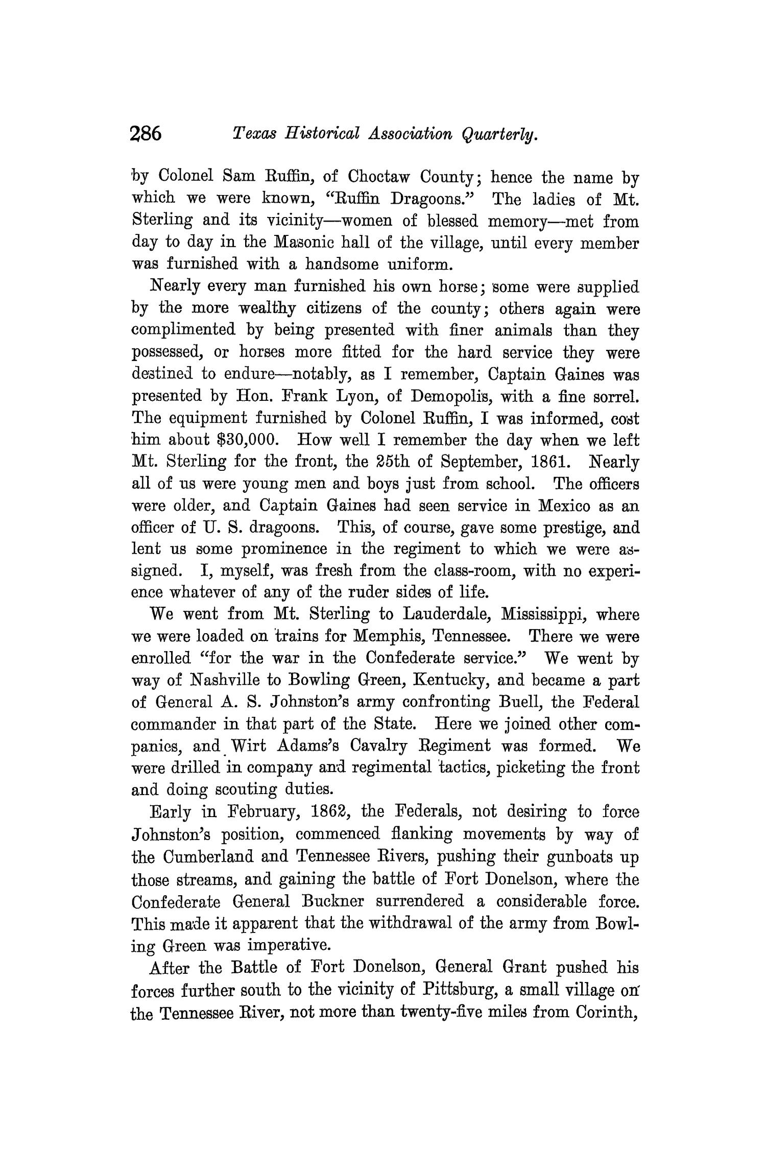 The Quarterly of the Texas State Historical Association, Volume 10, July 1906 - April, 1907                                                                                                      286