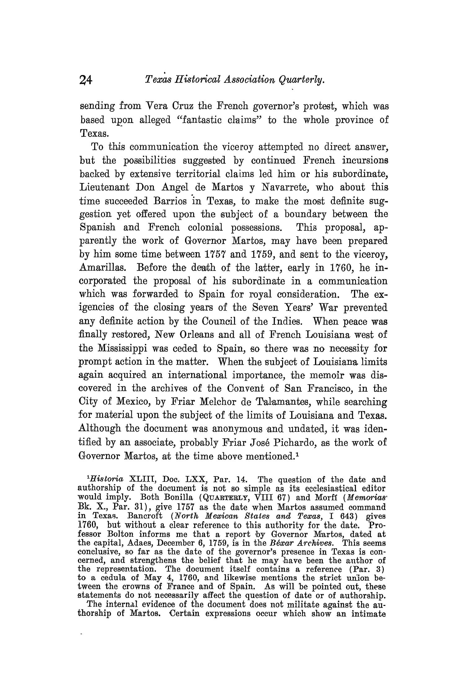 The Quarterly of the Texas State Historical Association, Volume 10, July 1906 - April, 1907                                                                                                      24