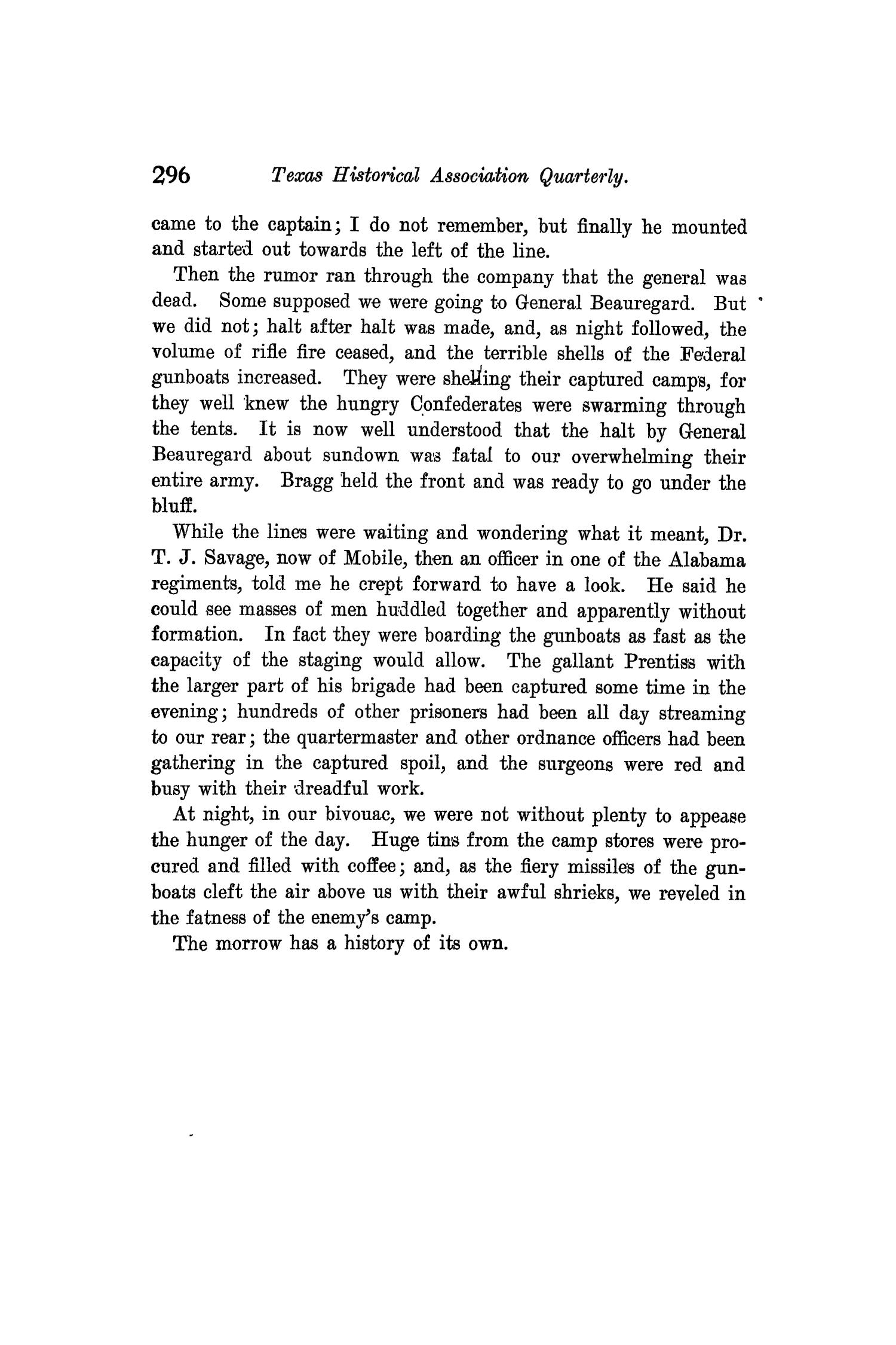 The Quarterly of the Texas State Historical Association, Volume 10, July 1906 - April, 1907                                                                                                      296