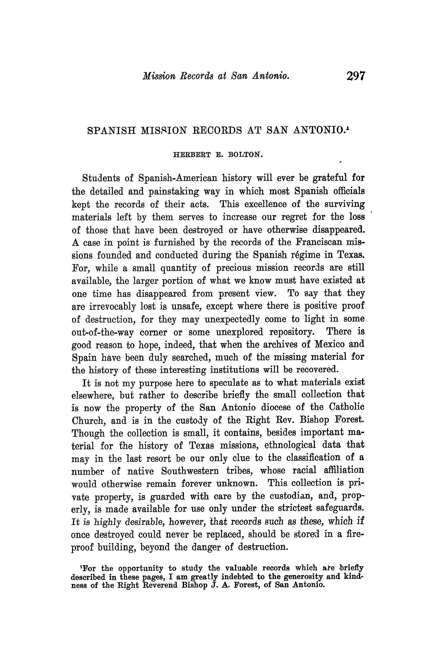 The Quarterly of the Texas State Historical Association, Volume 10, July 1906 - April, 1907                                                                                                      297