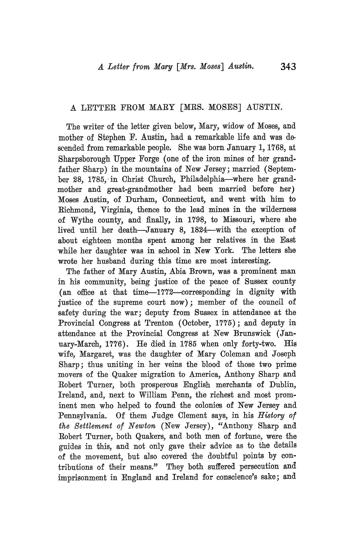 The Quarterly of the Texas State Historical Association, Volume 10, July 1906 - April, 1907                                                                                                      343