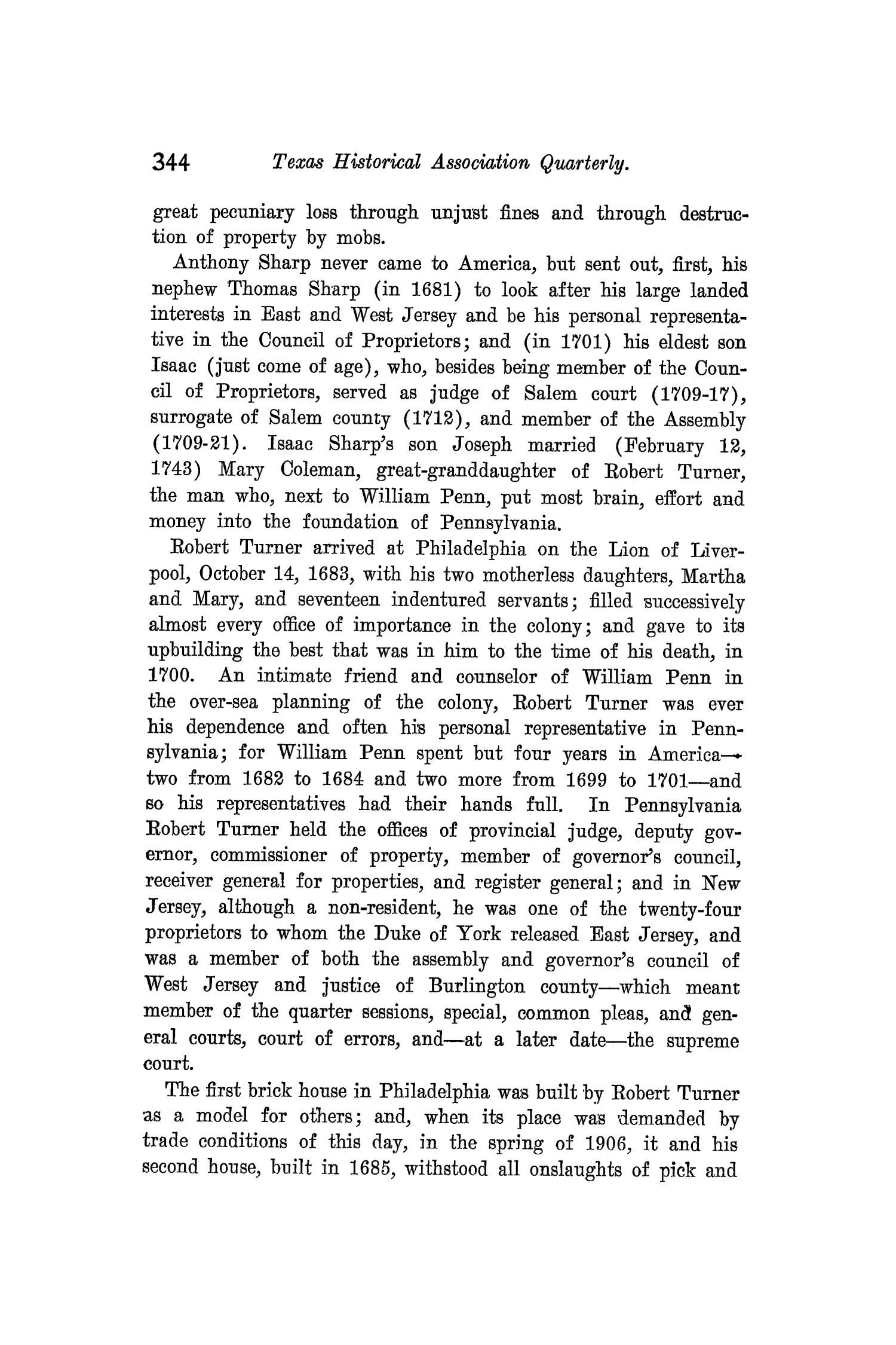 The Quarterly of the Texas State Historical Association, Volume 10, July 1906 - April, 1907                                                                                                      344