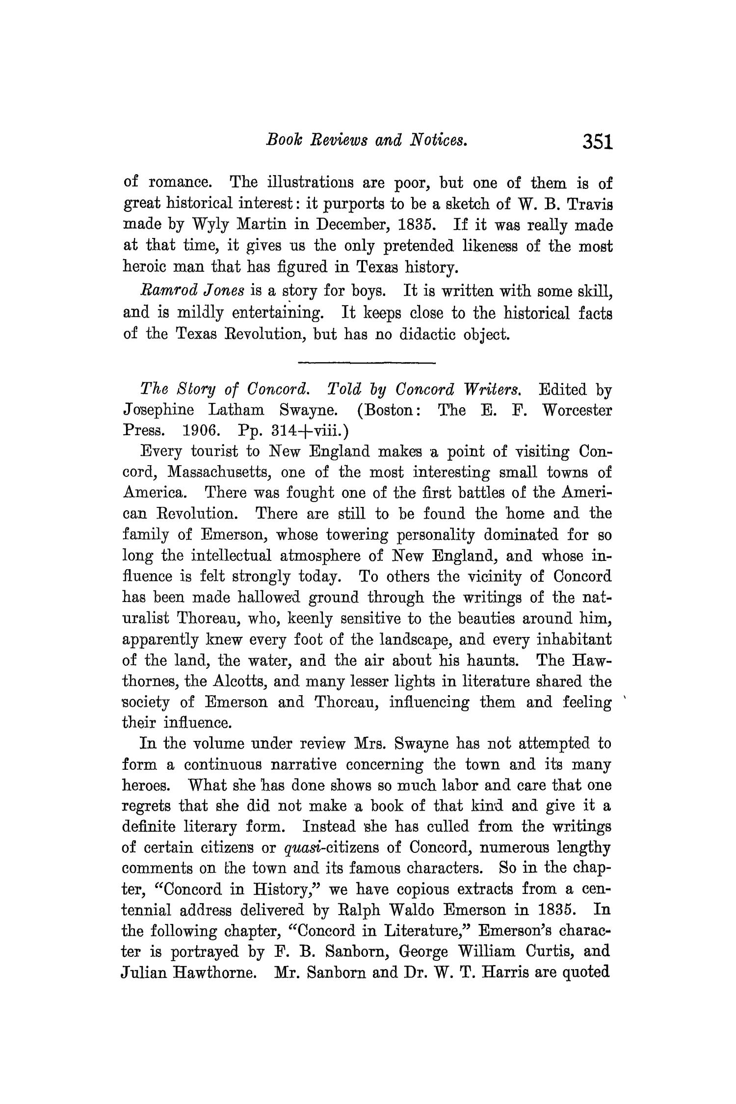 The Quarterly of the Texas State Historical Association, Volume 10, July 1906 - April, 1907                                                                                                      351