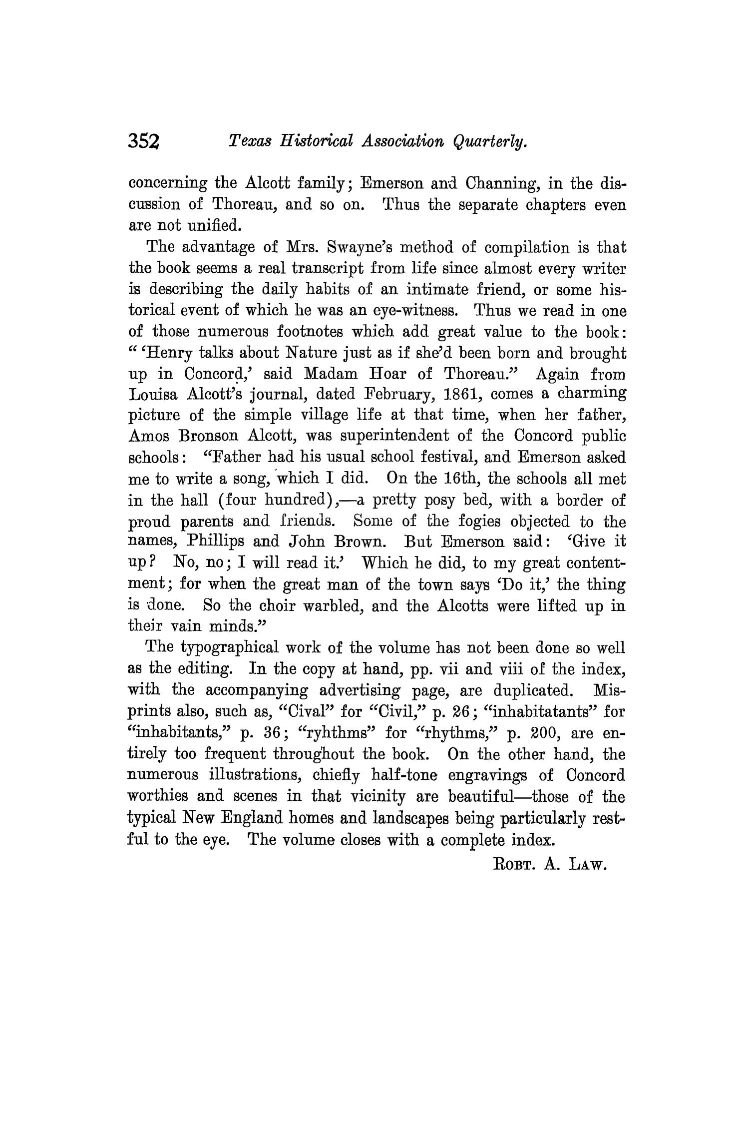 The Quarterly of the Texas State Historical Association, Volume 10, July 1906 - April, 1907                                                                                                      352