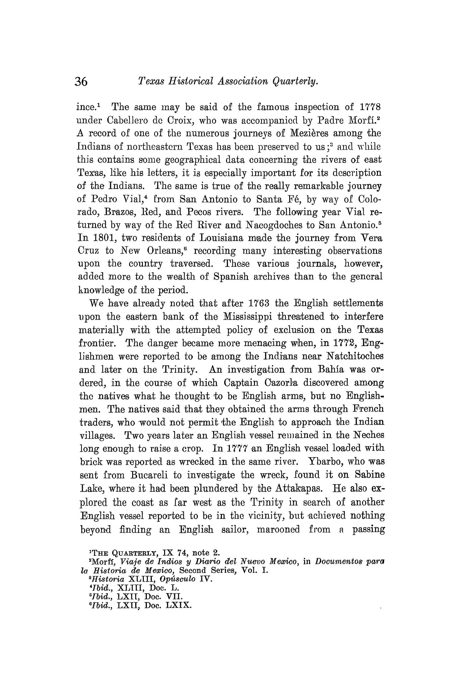 The Quarterly of the Texas State Historical Association, Volume 10, July 1906 - April, 1907                                                                                                      36
