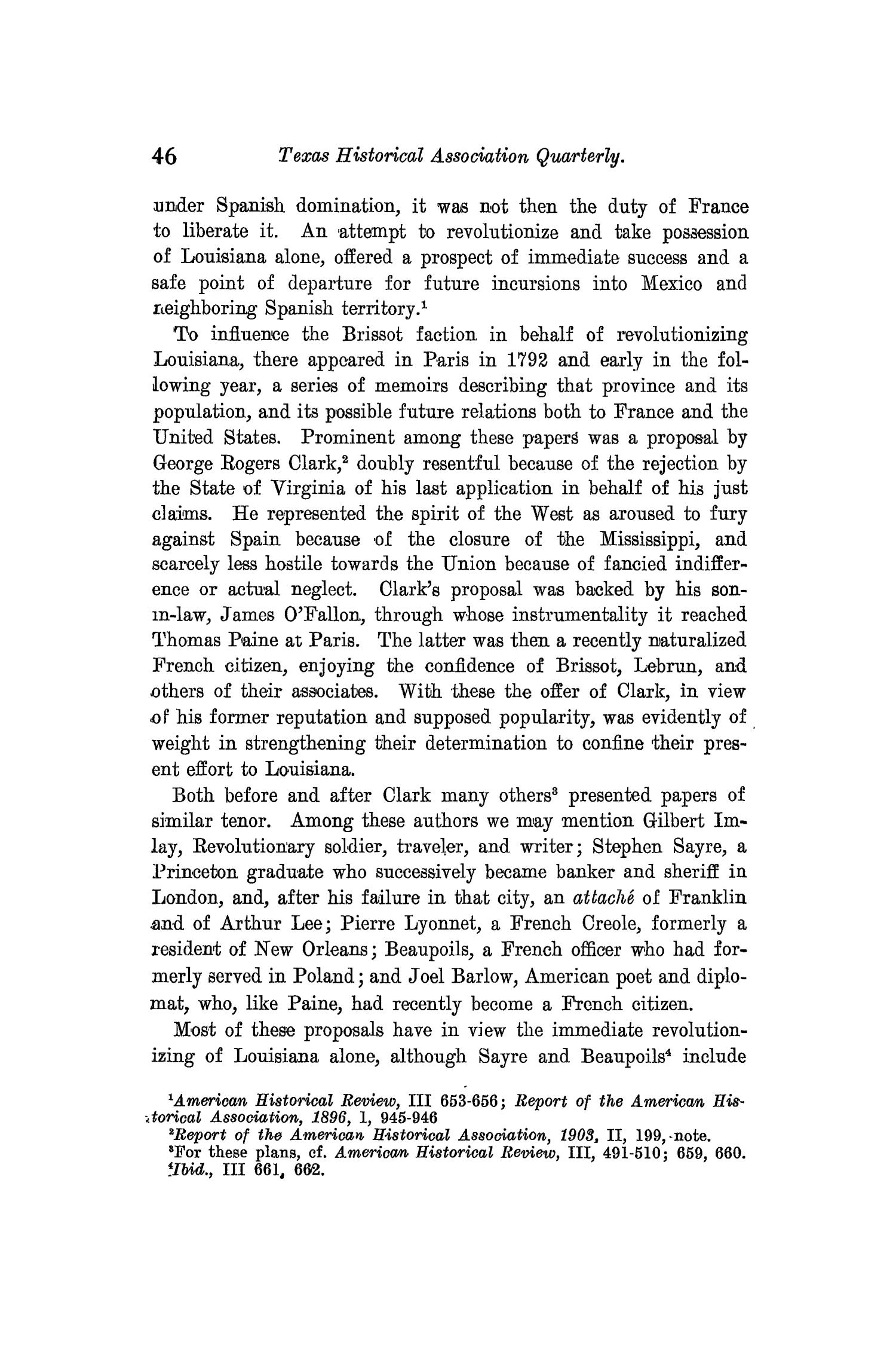 The Quarterly of the Texas State Historical Association, Volume 10, July 1906 - April, 1907                                                                                                      46