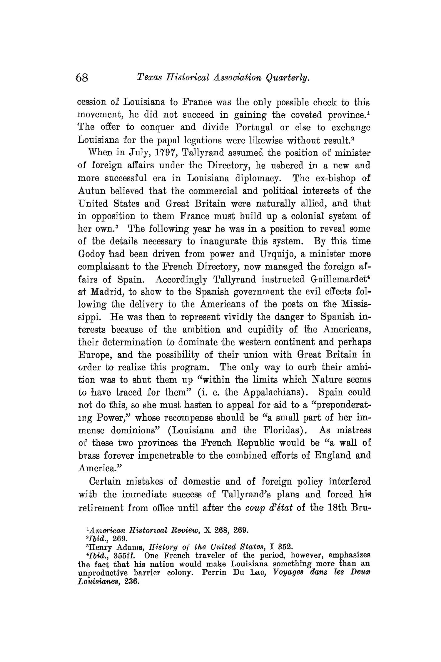 The Quarterly of the Texas State Historical Association, Volume 10, July 1906 - April, 1907                                                                                                      68