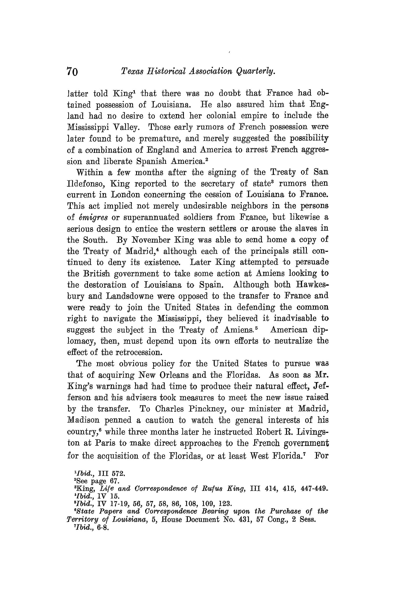 The Quarterly of the Texas State Historical Association, Volume 10, July 1906 - April, 1907                                                                                                      70