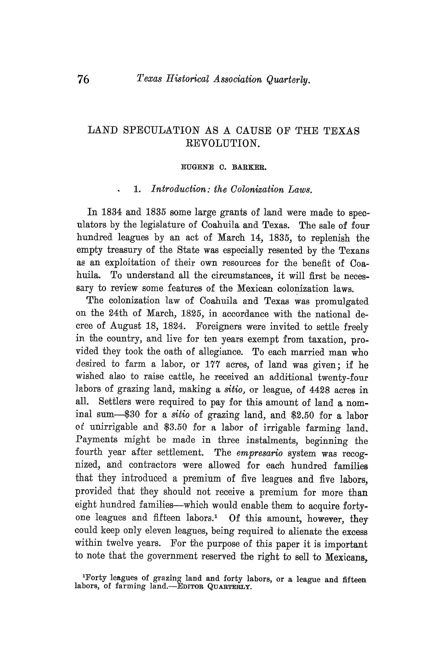 The Quarterly of the Texas State Historical Association, Volume 10, July 1906 - April, 1907                                                                                                      76