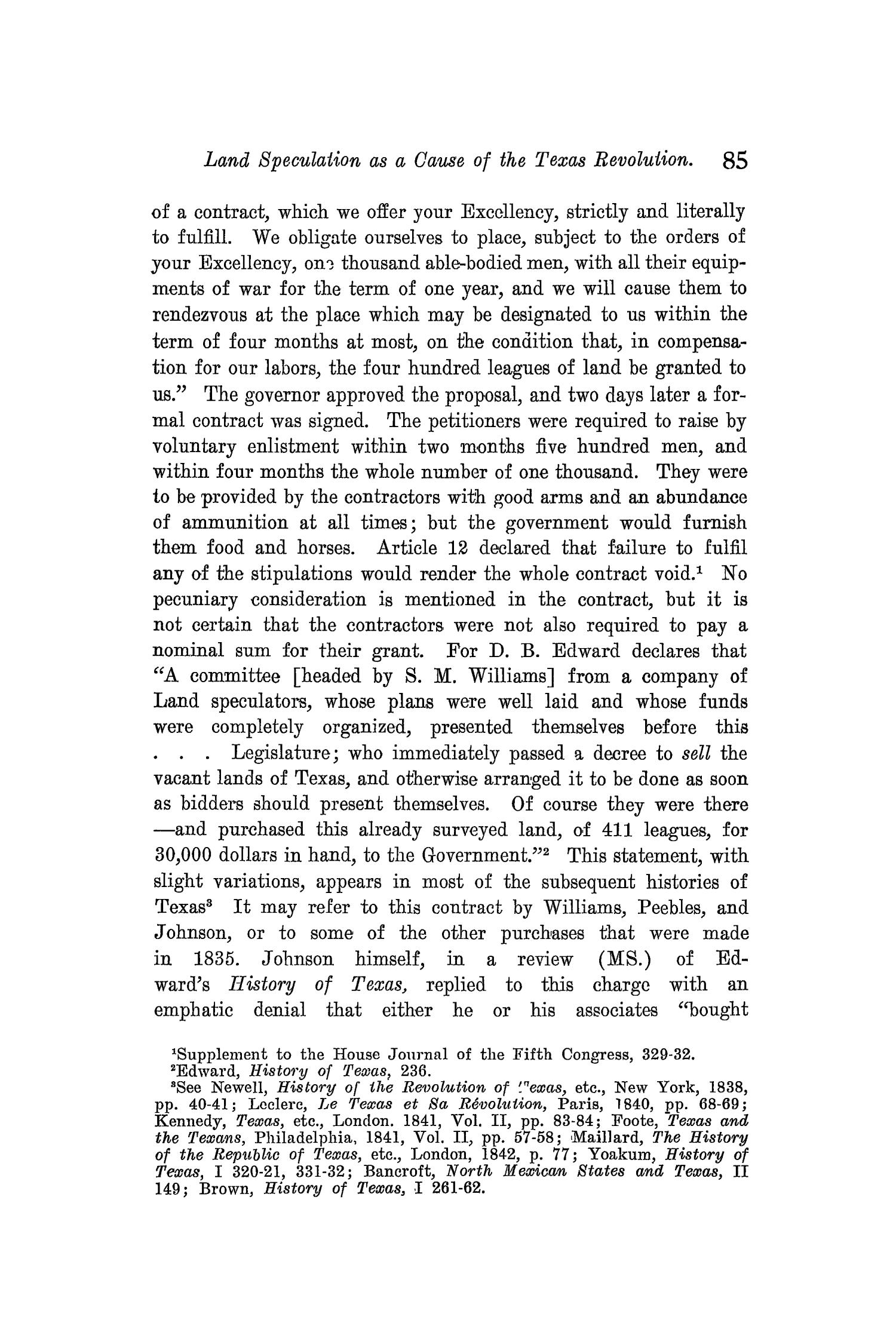 The Quarterly of the Texas State Historical Association, Volume 10, July 1906 - April, 1907                                                                                                      85