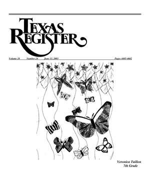 Primary view of object titled 'Texas Register, Volume 28, Number 24, Pages 4485-4602, June 13, 2003'.