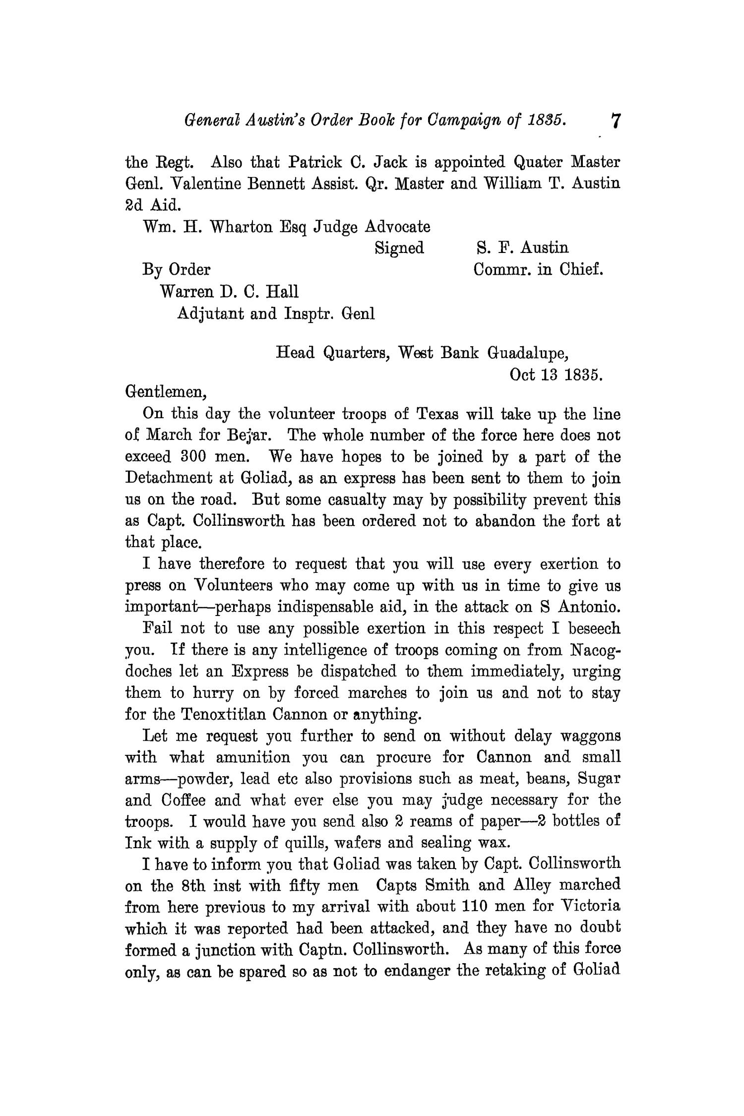 The Quarterly of the Texas State Historical Association, Volume 11, July 1907 - April, 1908                                                                                                      7