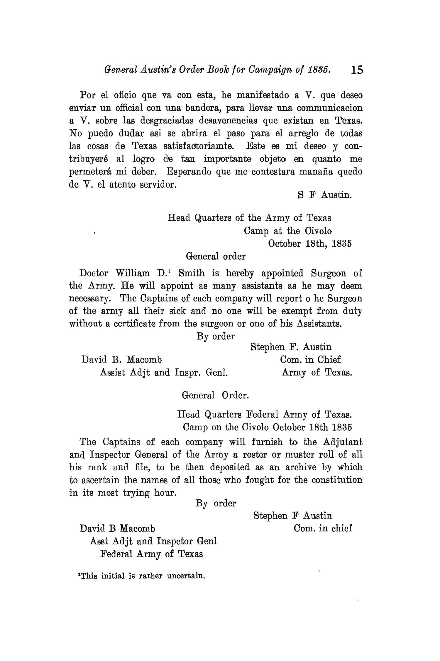 The Quarterly of the Texas State Historical Association, Volume 11, July 1907 - April, 1908                                                                                                      15