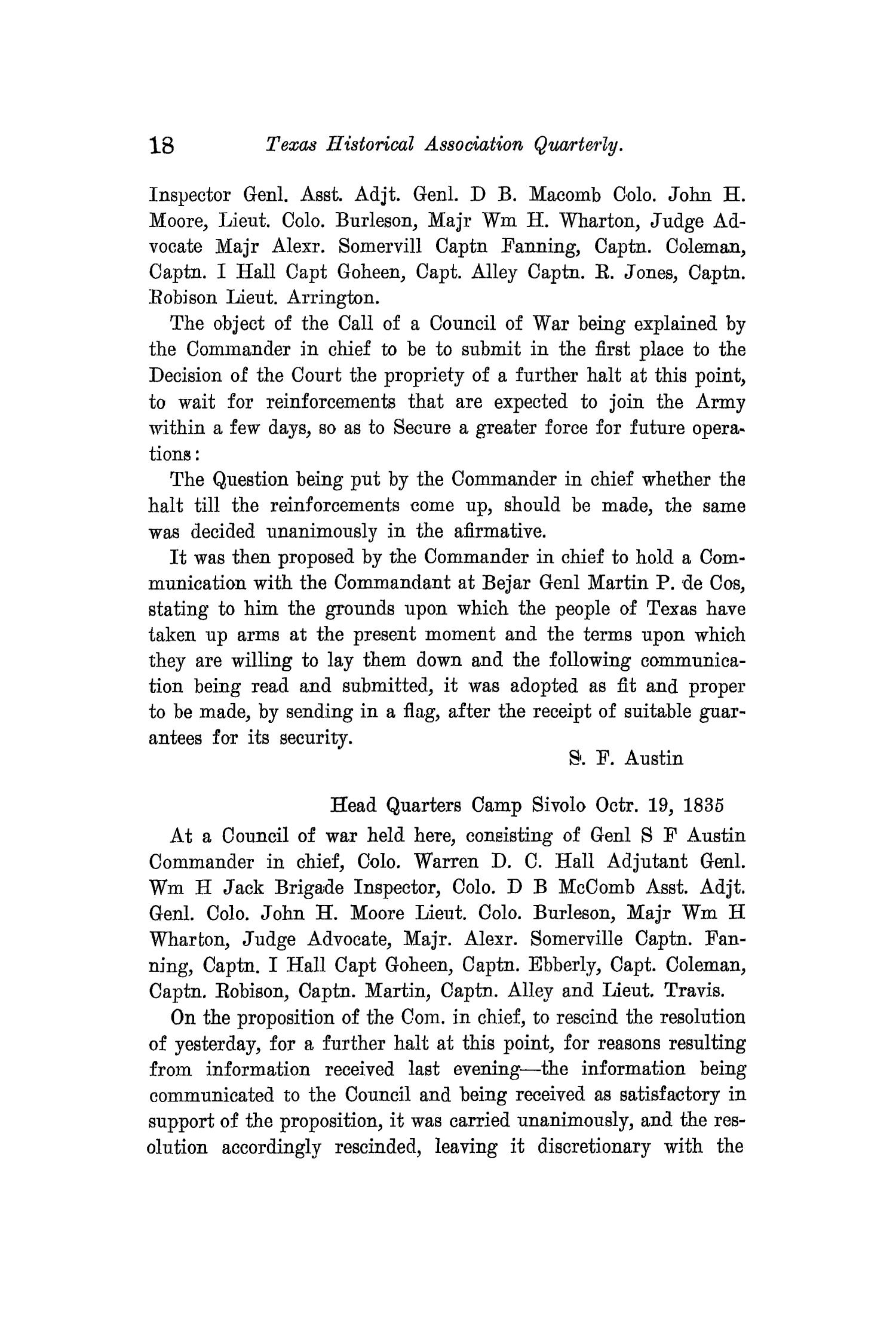 The Quarterly of the Texas State Historical Association, Volume 11, July 1907 - April, 1908                                                                                                      18