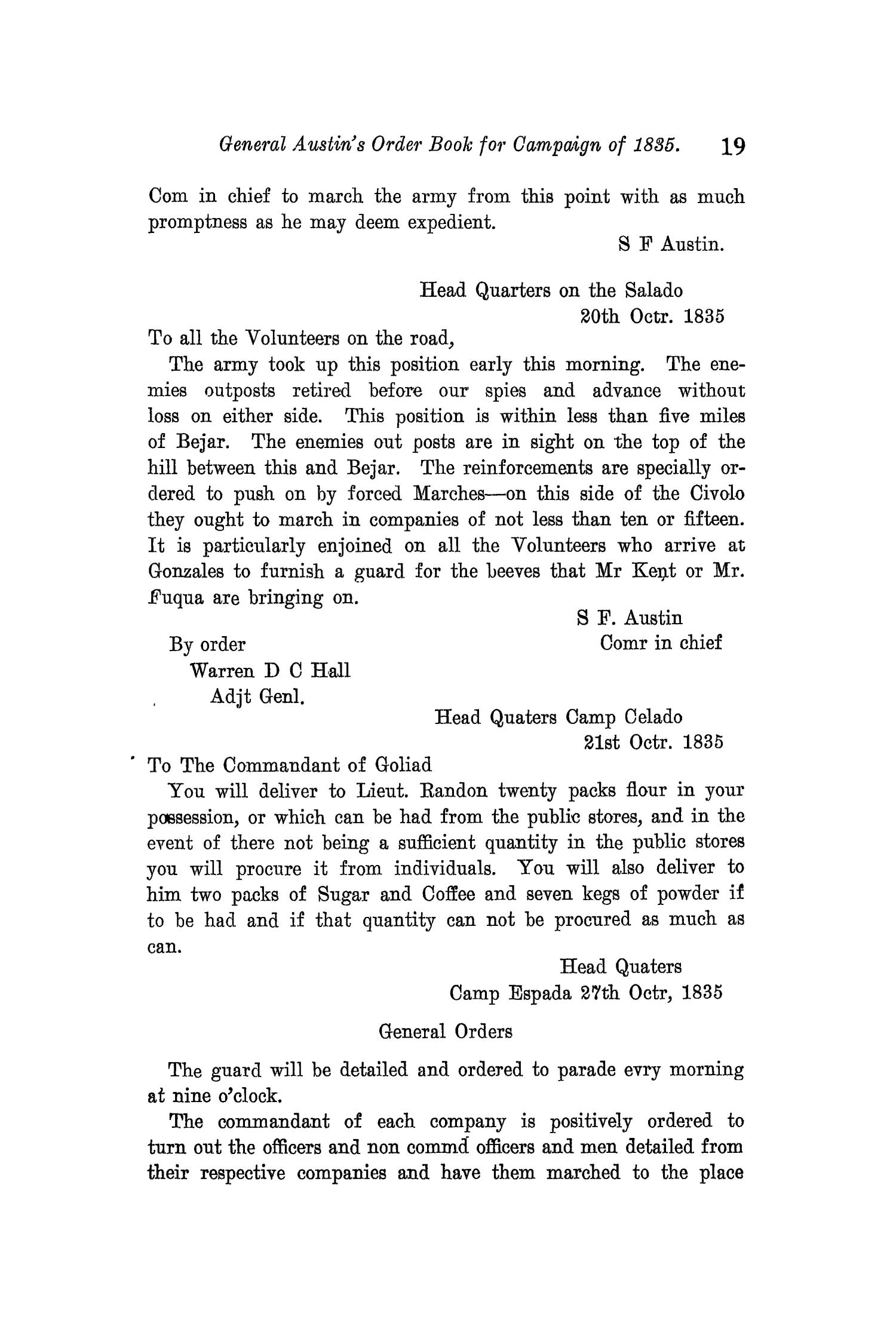 The Quarterly of the Texas State Historical Association, Volume 11, July 1907 - April, 1908                                                                                                      19