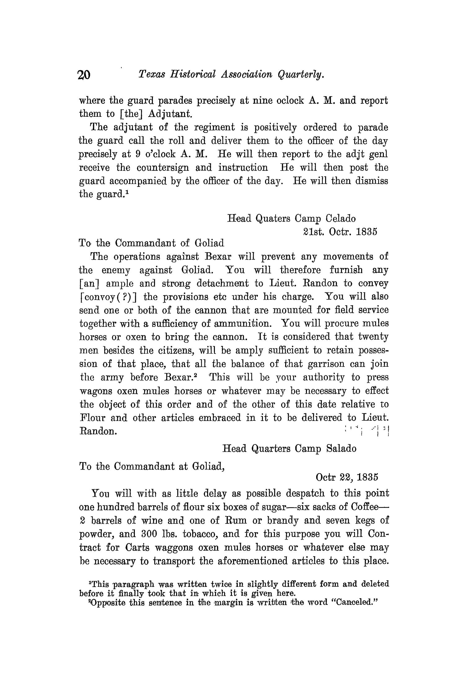 The Quarterly of the Texas State Historical Association, Volume 11, July 1907 - April, 1908                                                                                                      20