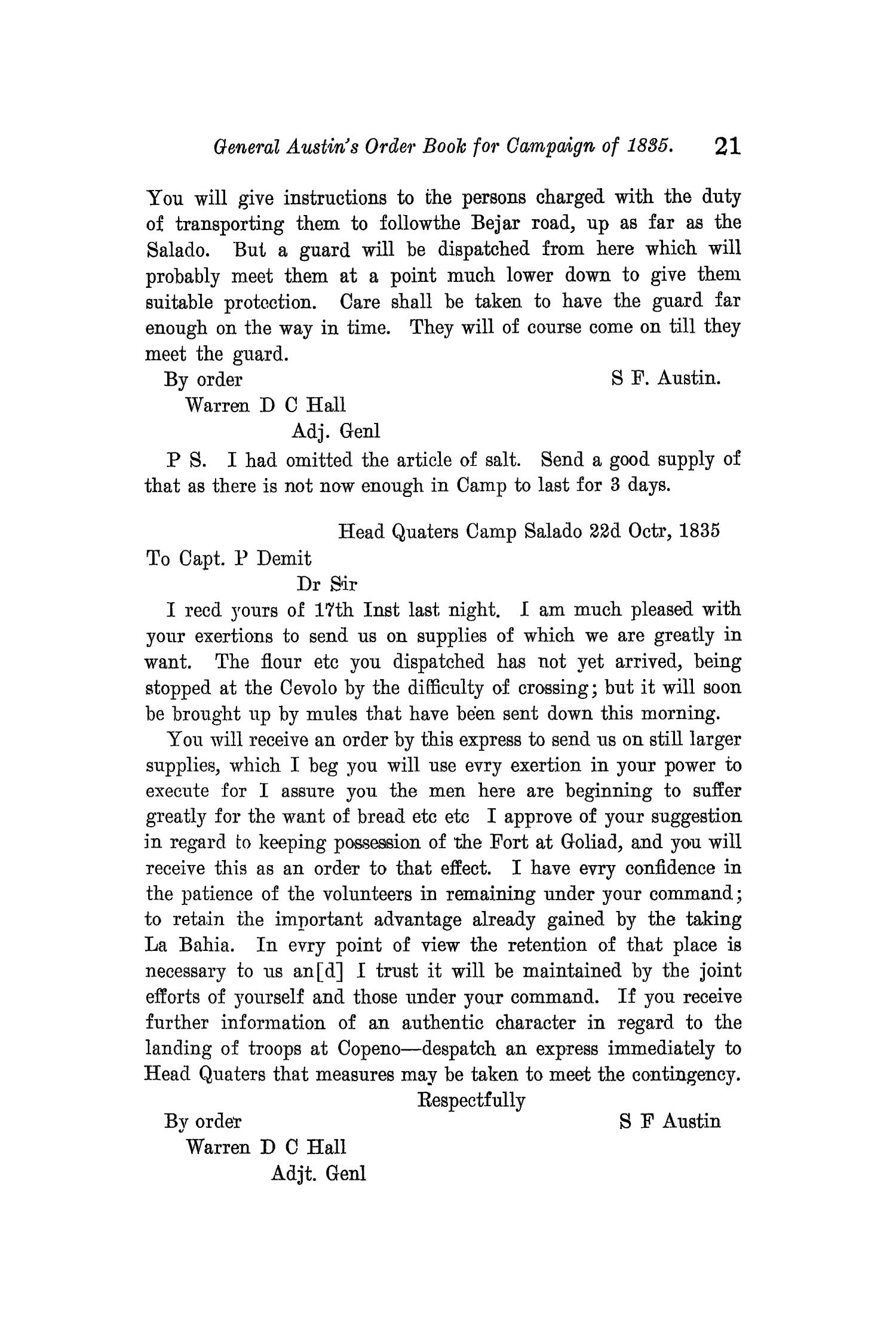 The Quarterly of the Texas State Historical Association, Volume 11, July 1907 - April, 1908                                                                                                      21