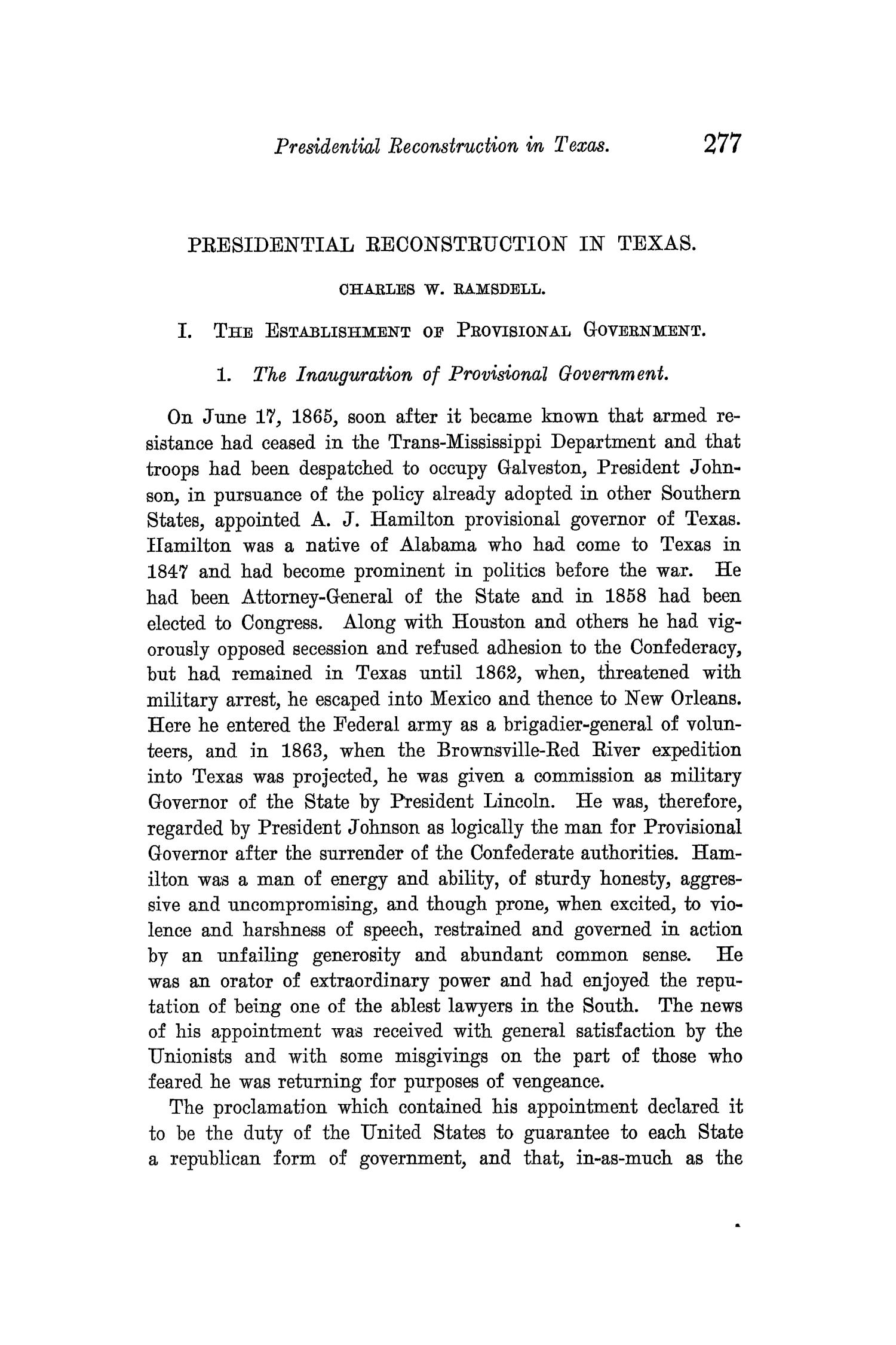 The Quarterly of the Texas State Historical Association, Volume 11, July 1907 - April, 1908                                                                                                      277