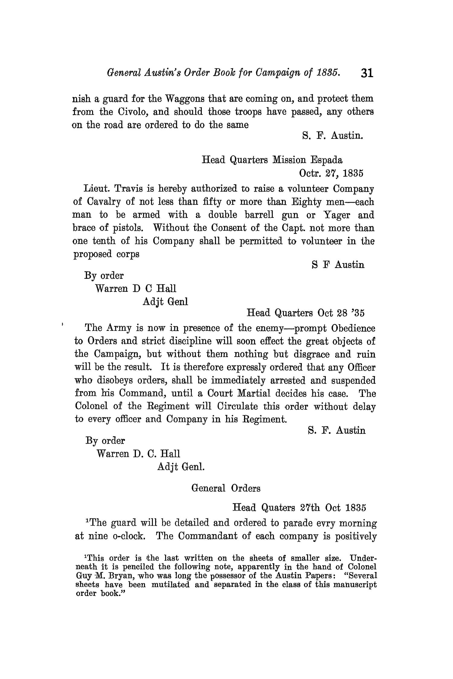 The Quarterly of the Texas State Historical Association, Volume 11, July 1907 - April, 1908                                                                                                      31